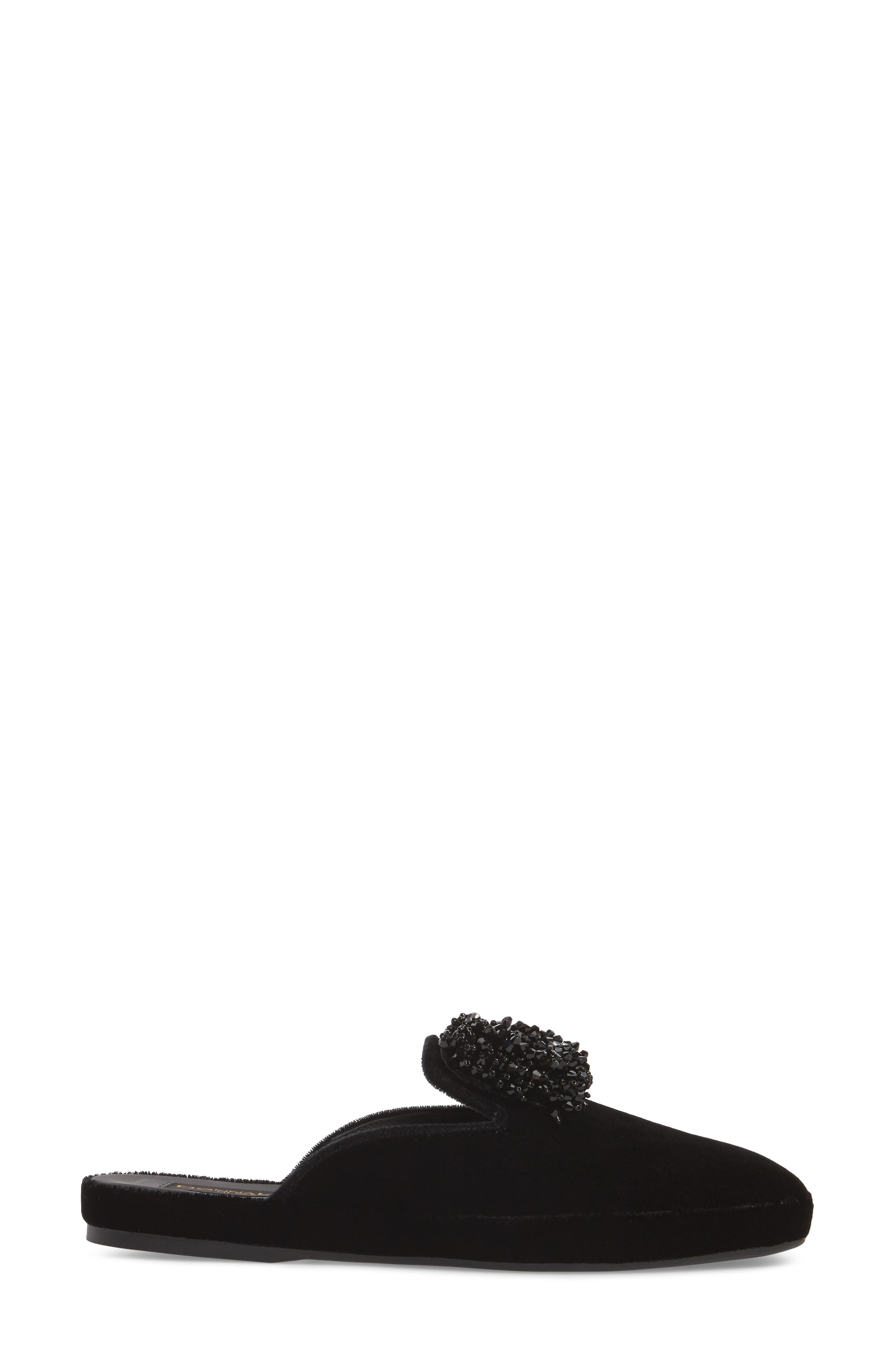 Donna Karan Cara Embellished Mule,                             Alternate thumbnail 3, color,                             001