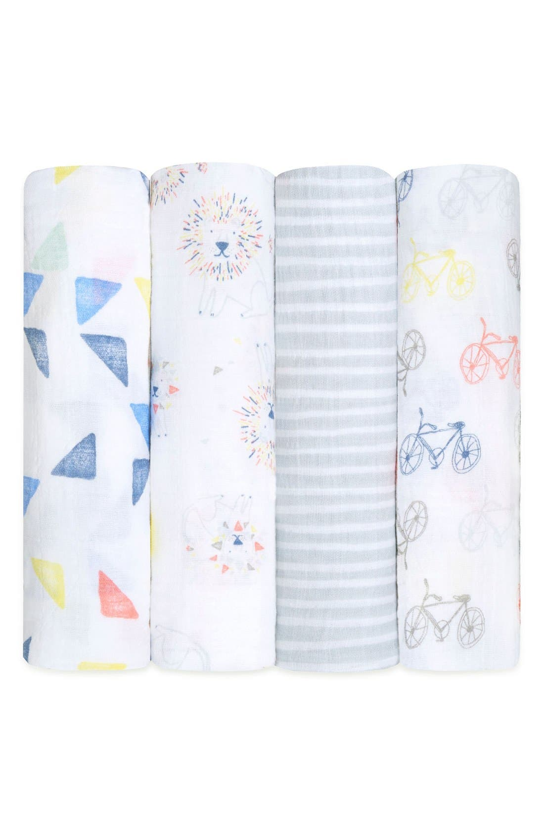 4-Pack Classic Swaddling Cloths,                             Main thumbnail 1, color,                             143
