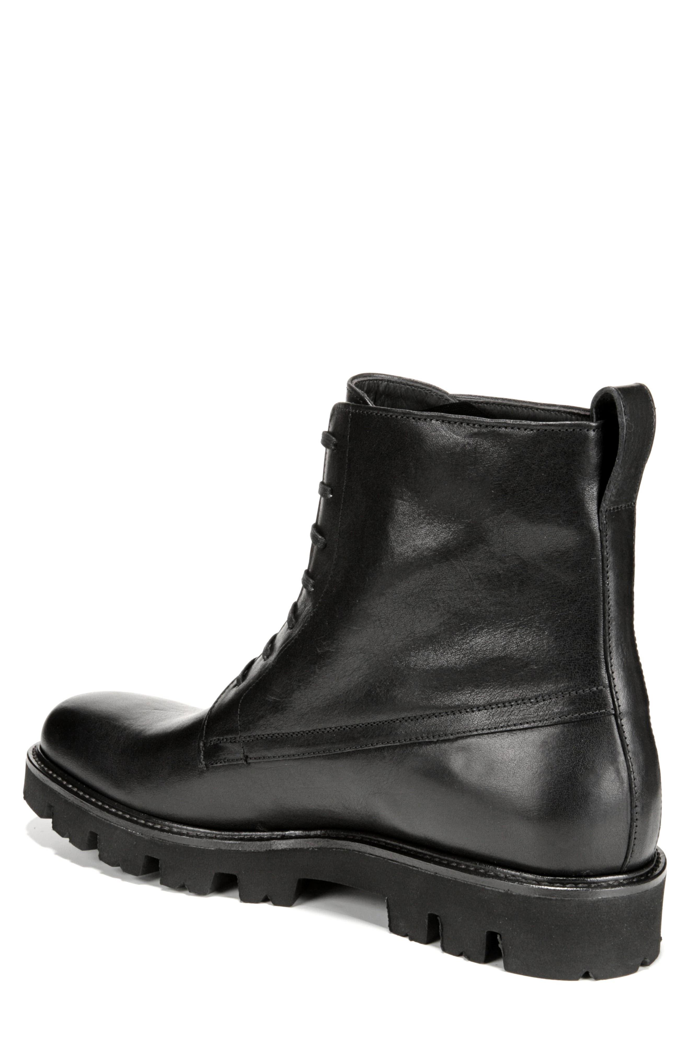 Commander Plain Toe Boot,                             Alternate thumbnail 2, color,                             BLACK