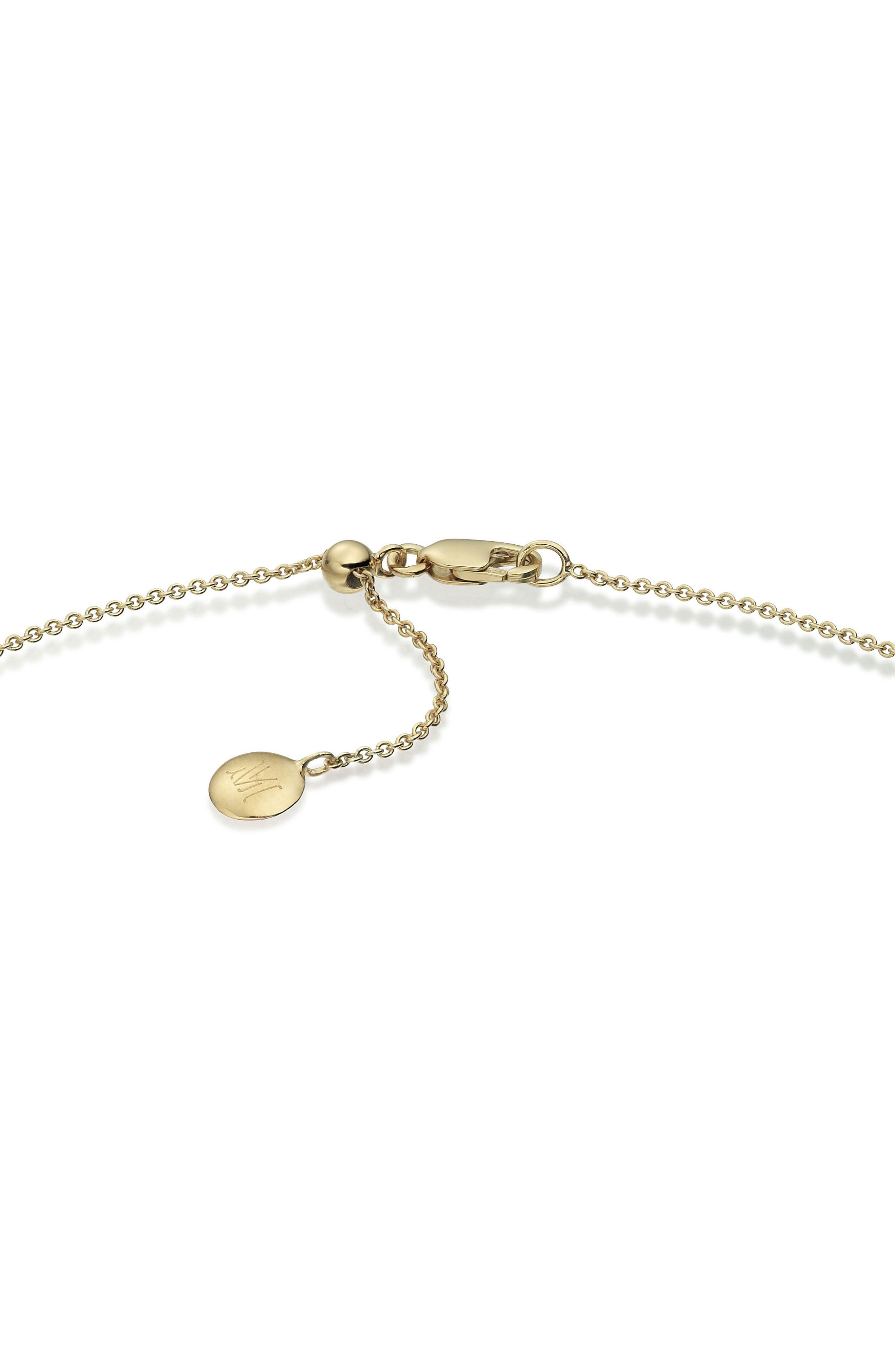 32 Inch Adjustable Rolo Chain,                             Alternate thumbnail 3, color,                             YELLOW GOLD