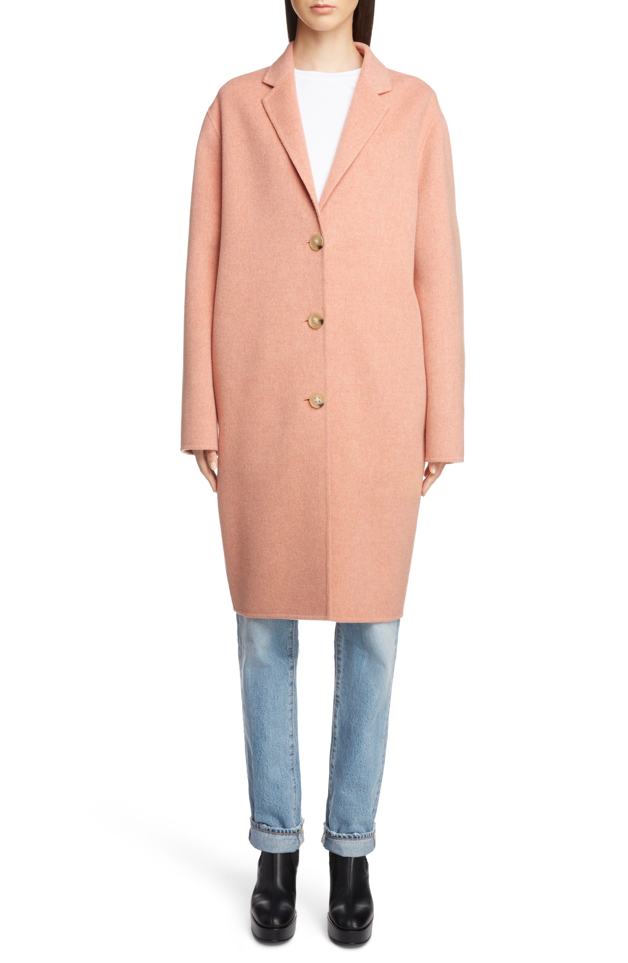 Double Wool & Cashmere Coat,                             Main thumbnail 1, color,                             650