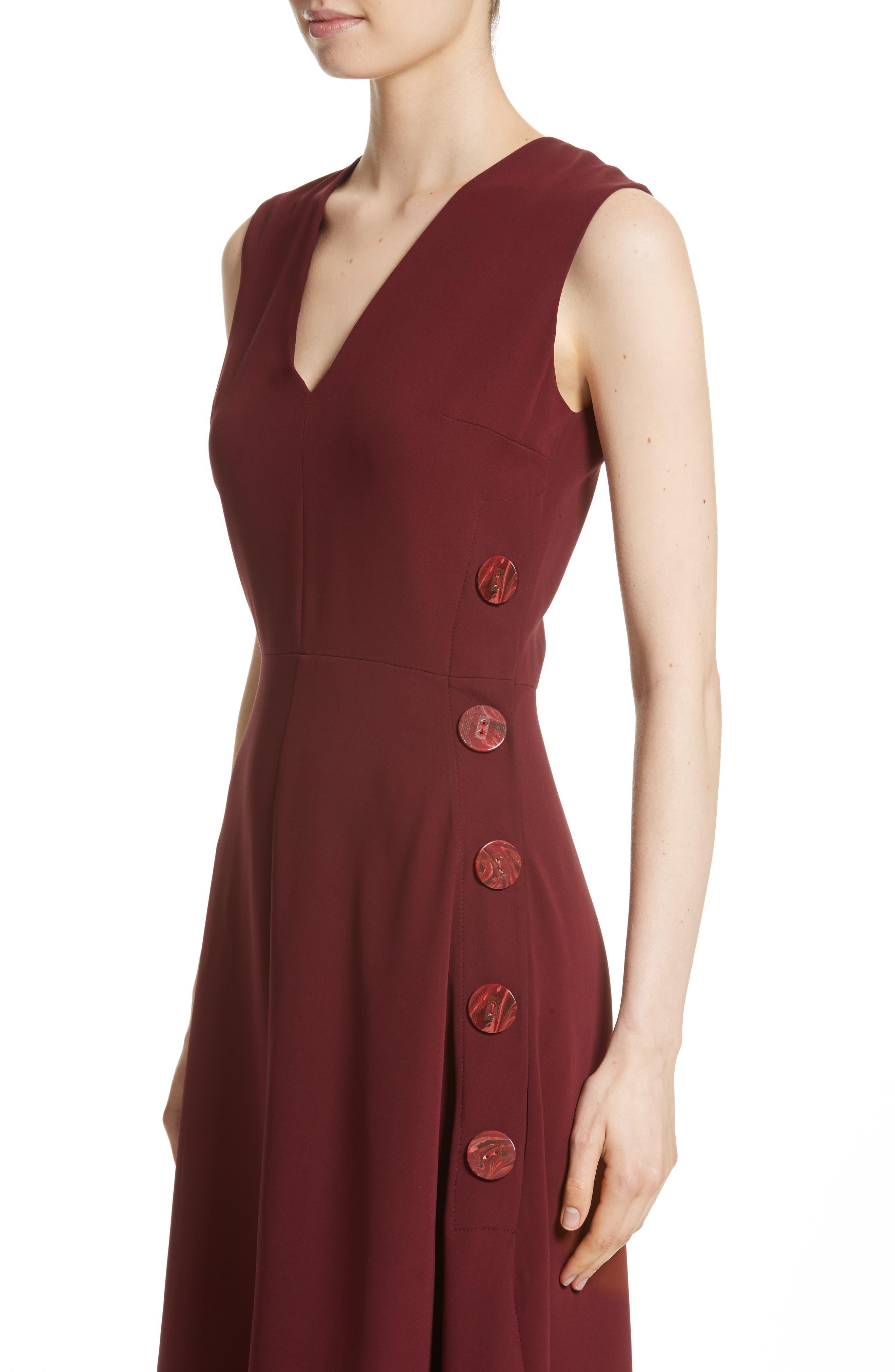 Hiroko Sleeveless Silk Dress,                             Alternate thumbnail 4, color,
