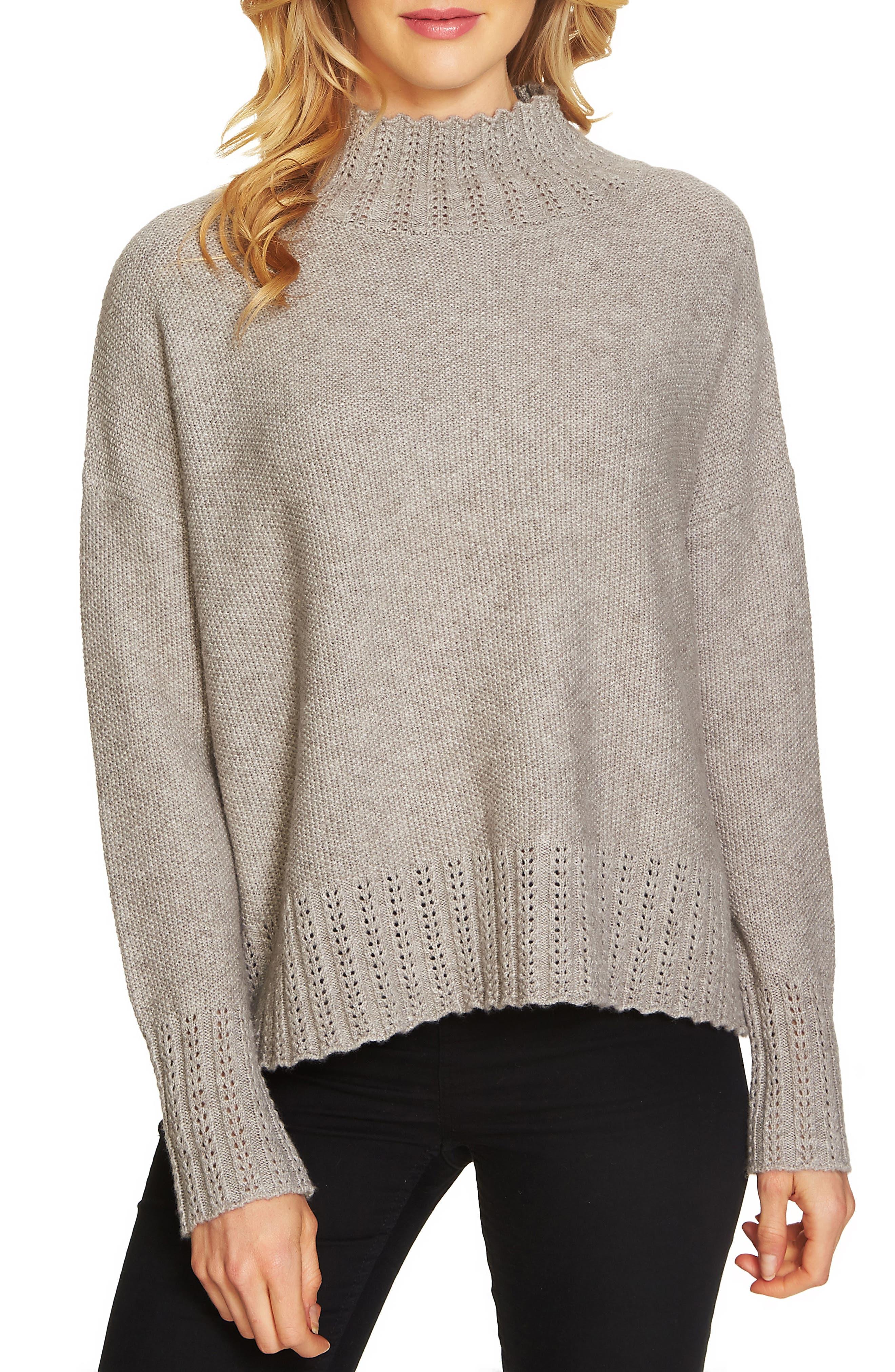 Seed Stitch Turtleneck Sweater,                         Main,                         color, 078