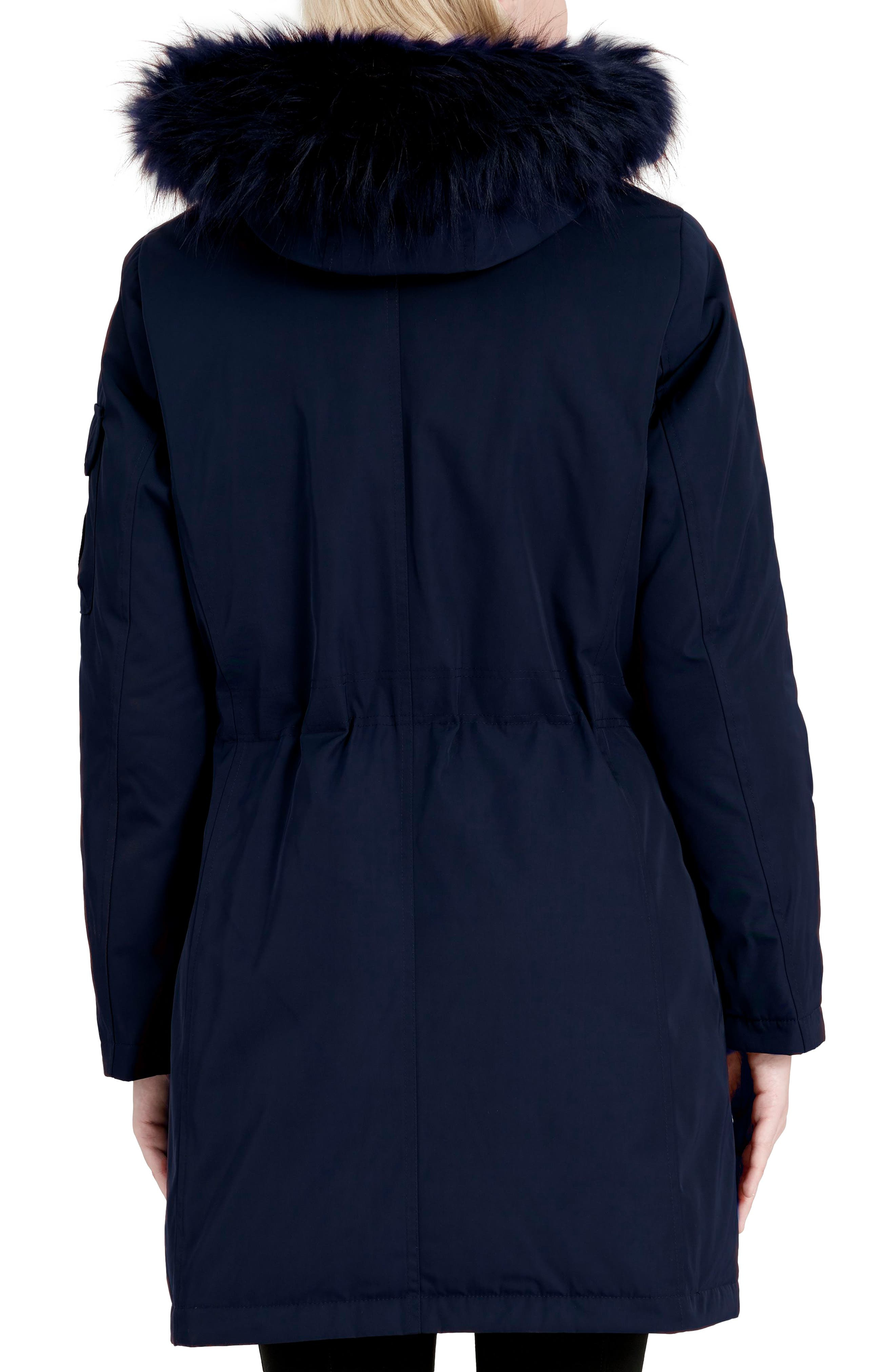 Expedition Hooded Down Parka with Faux Fur Trim,                             Alternate thumbnail 5, color,