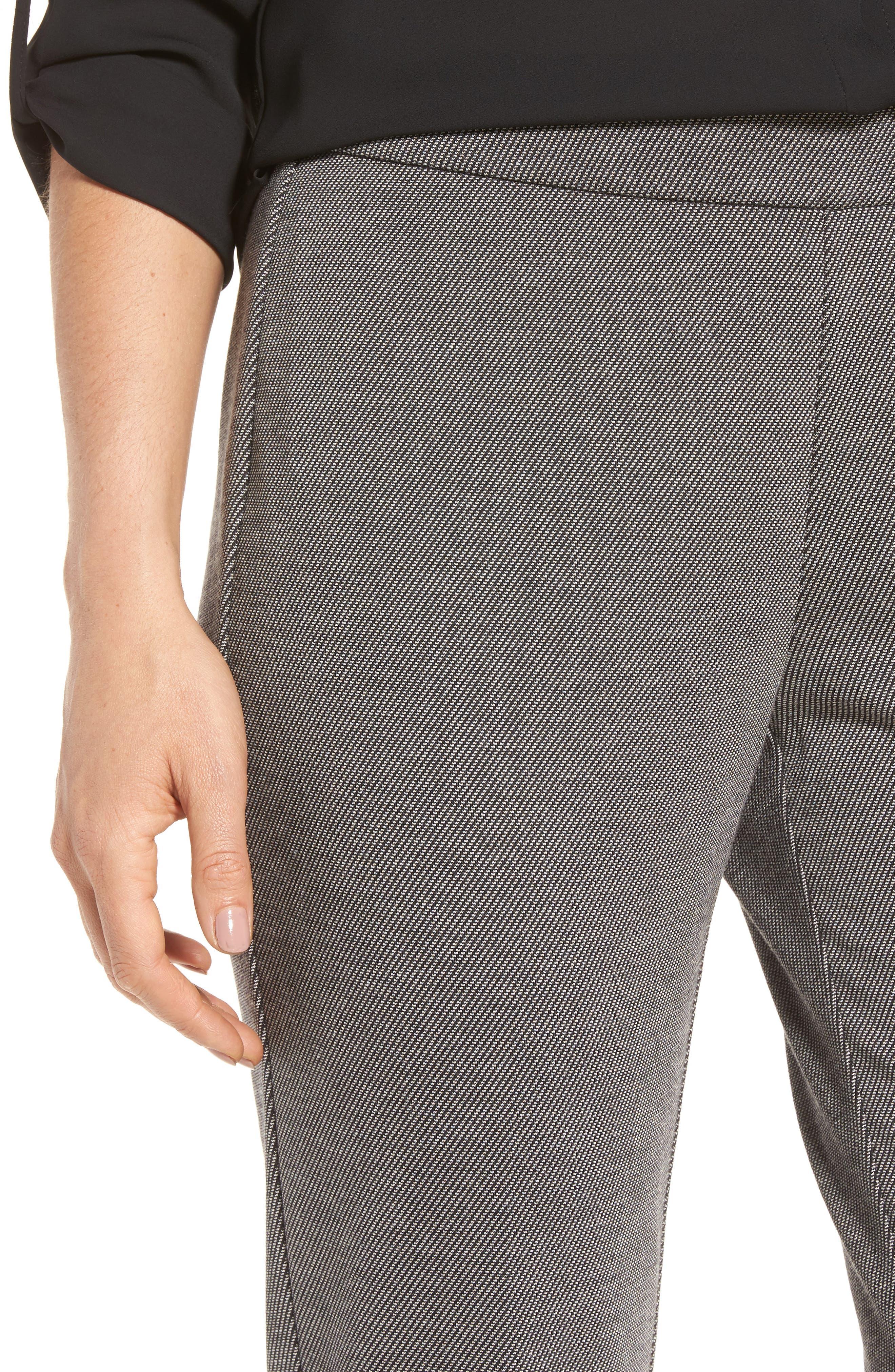 Slim Twill Ponte Knit Pants,                             Alternate thumbnail 4, color,                             020