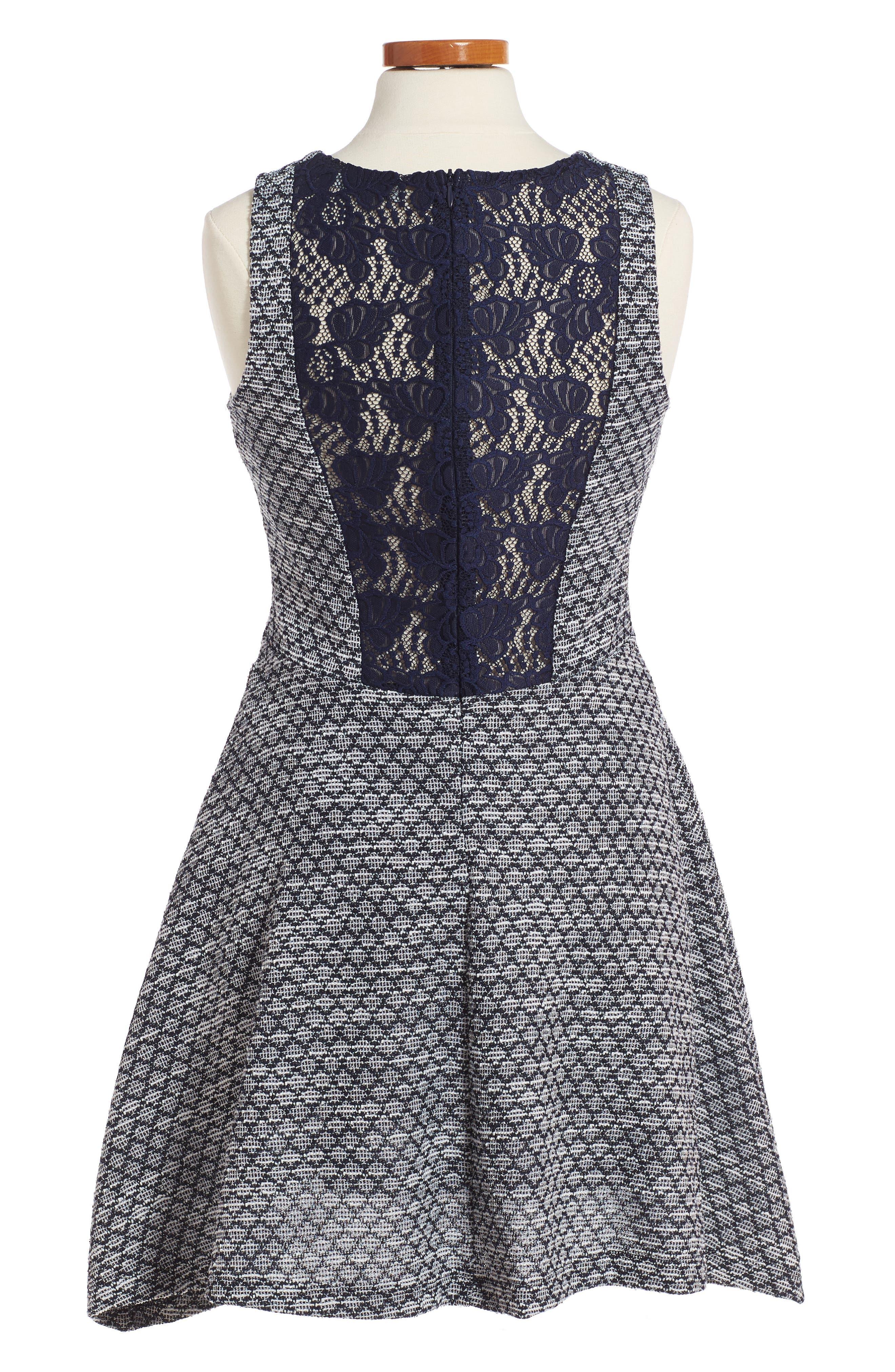 Lolita Sleeveless Skater Dress,                             Alternate thumbnail 2, color,                             410