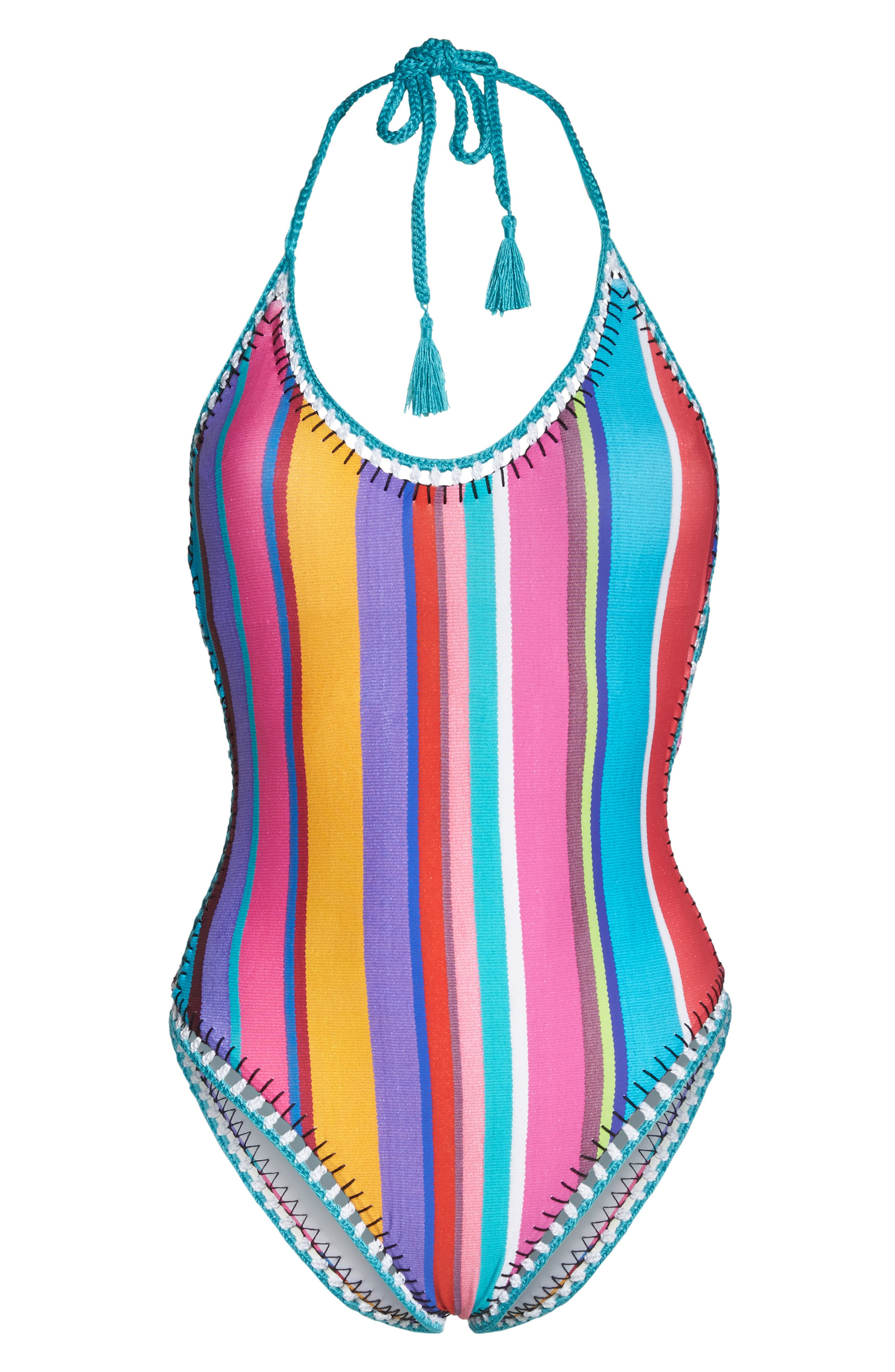 Sayulita Goddess One-Piece Swimsuit,                             Alternate thumbnail 6, color,