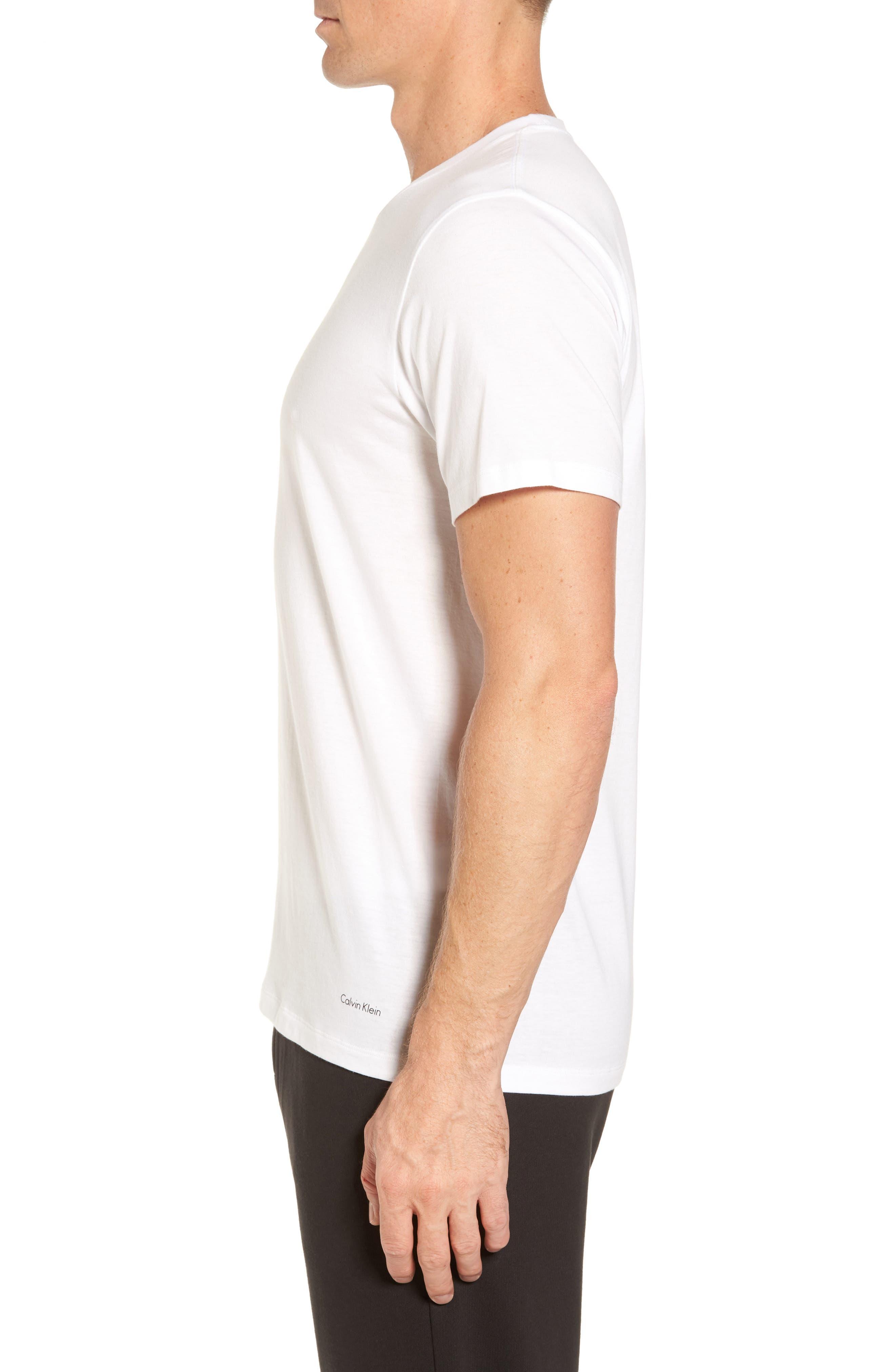 Cotton Class 4-Pack Crewneck T-Shirt,                             Alternate thumbnail 3, color,                             WHITE