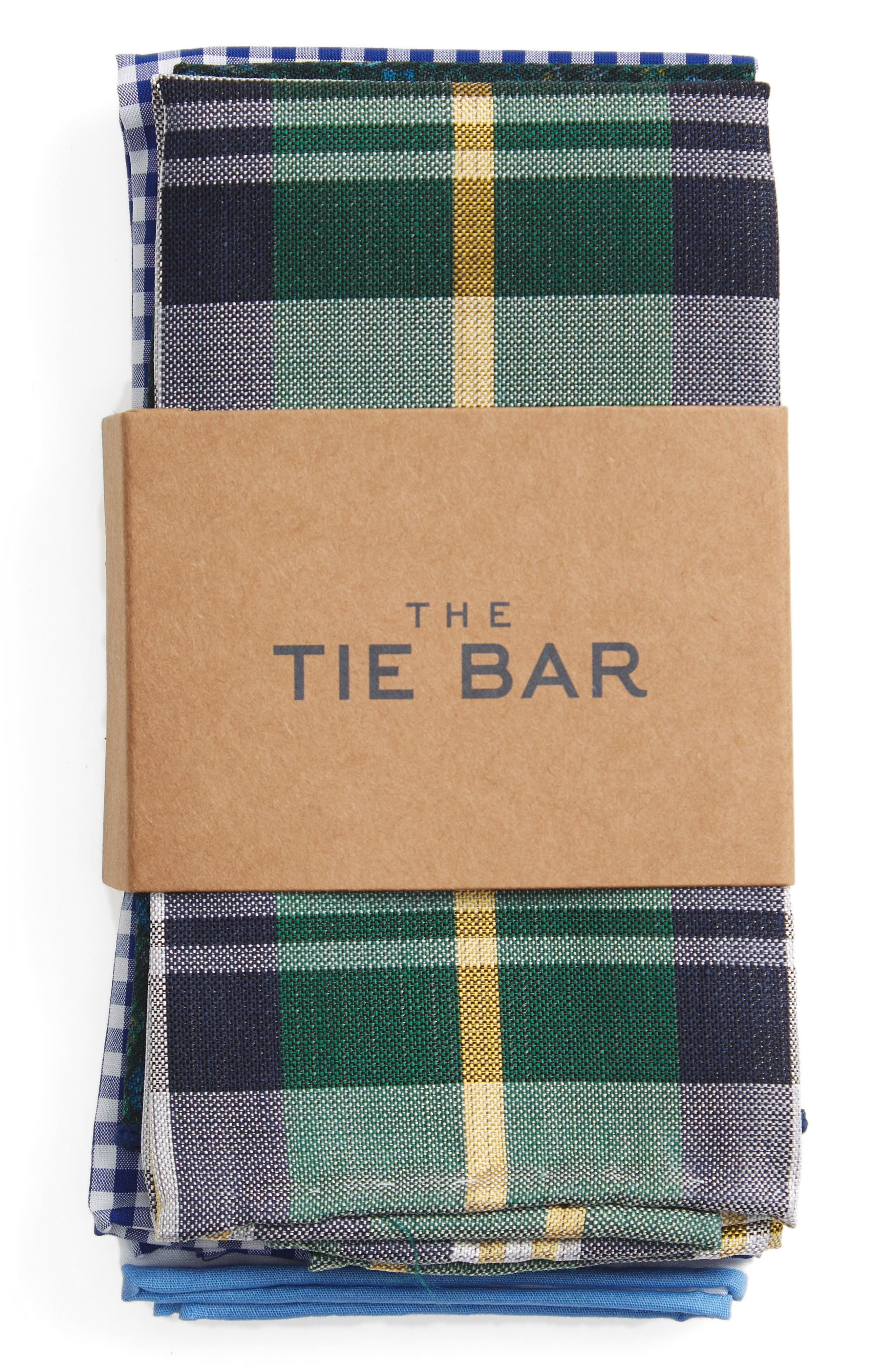 Trendy Green 5-Pack Pocket Squares,                             Main thumbnail 1, color,                             300