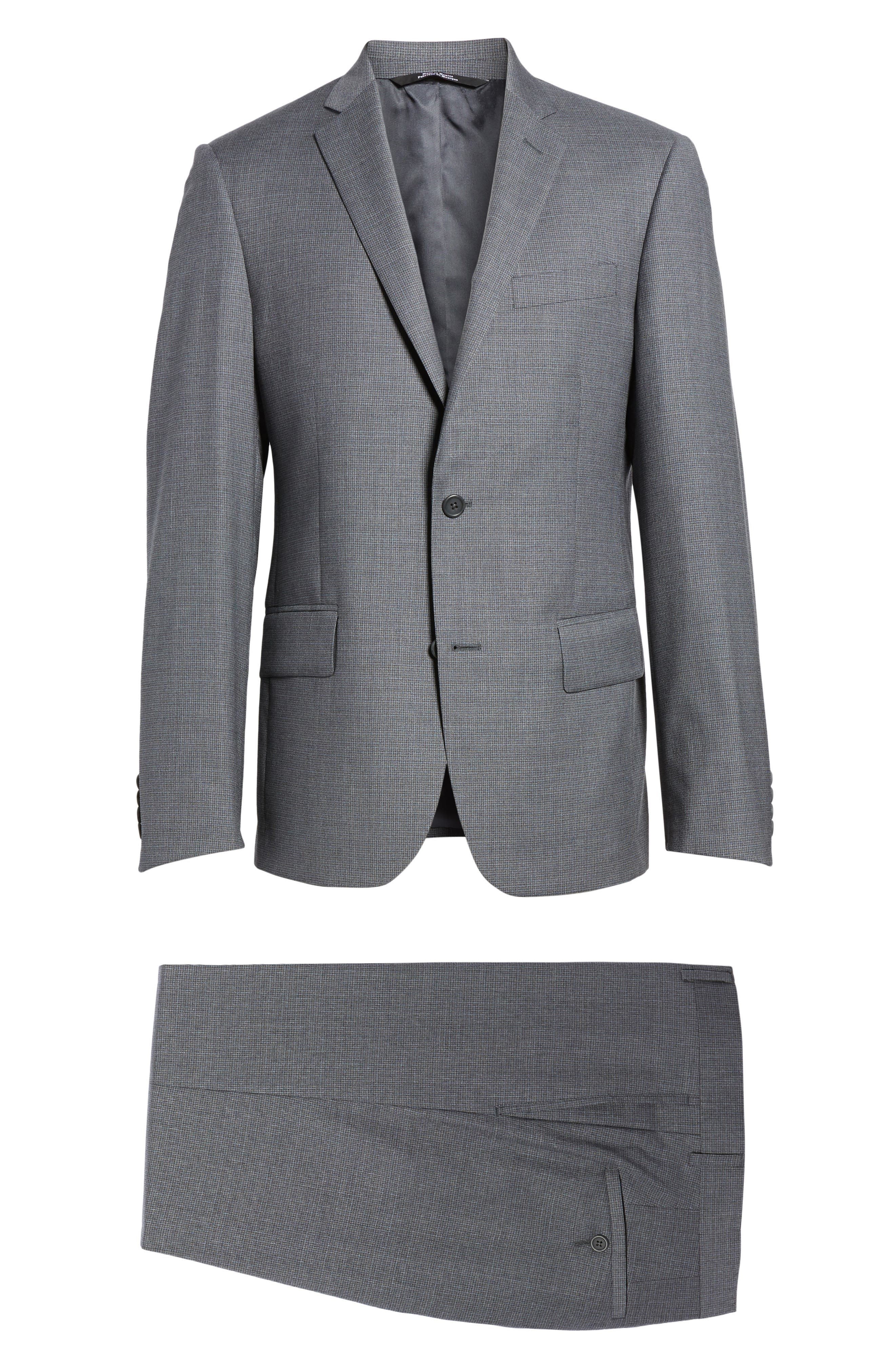 Classic Fit Check Wool Suit,                             Alternate thumbnail 23, color,