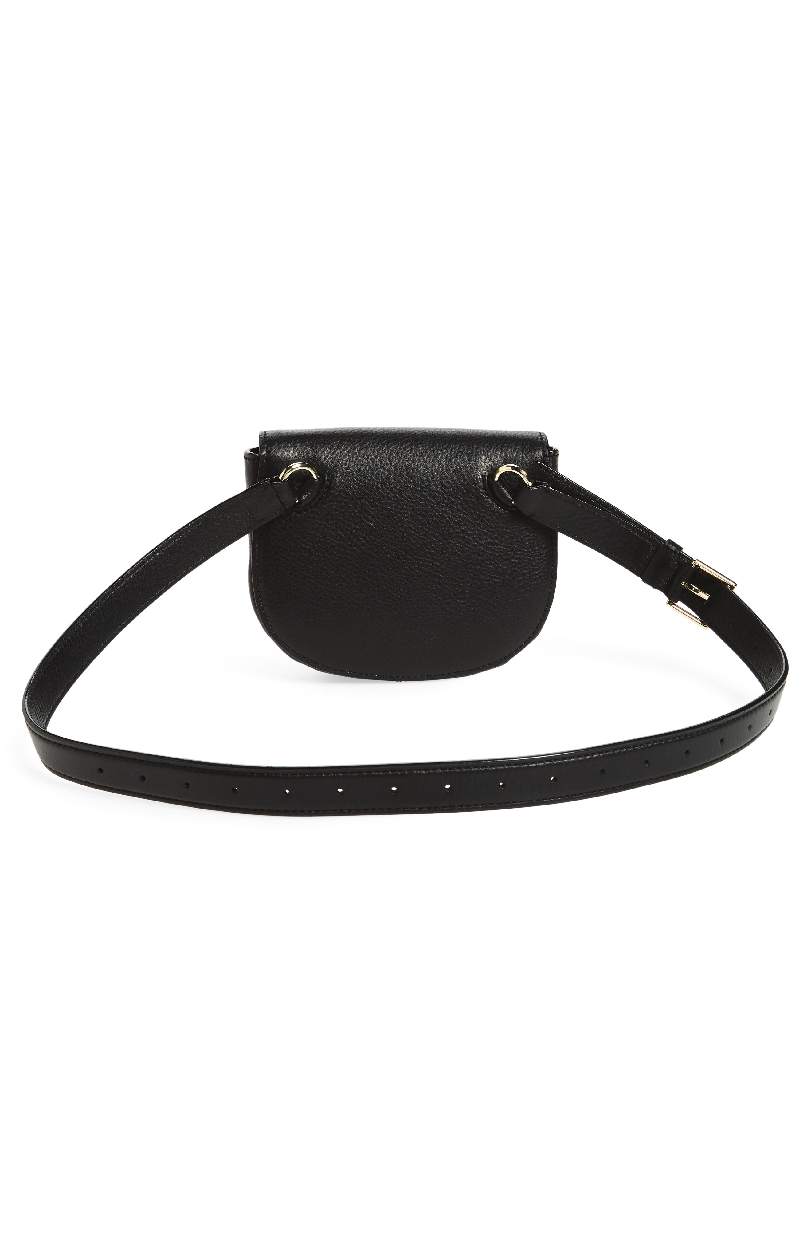 greenwood place rita leather belt bag,                             Alternate thumbnail 3, color,                             001