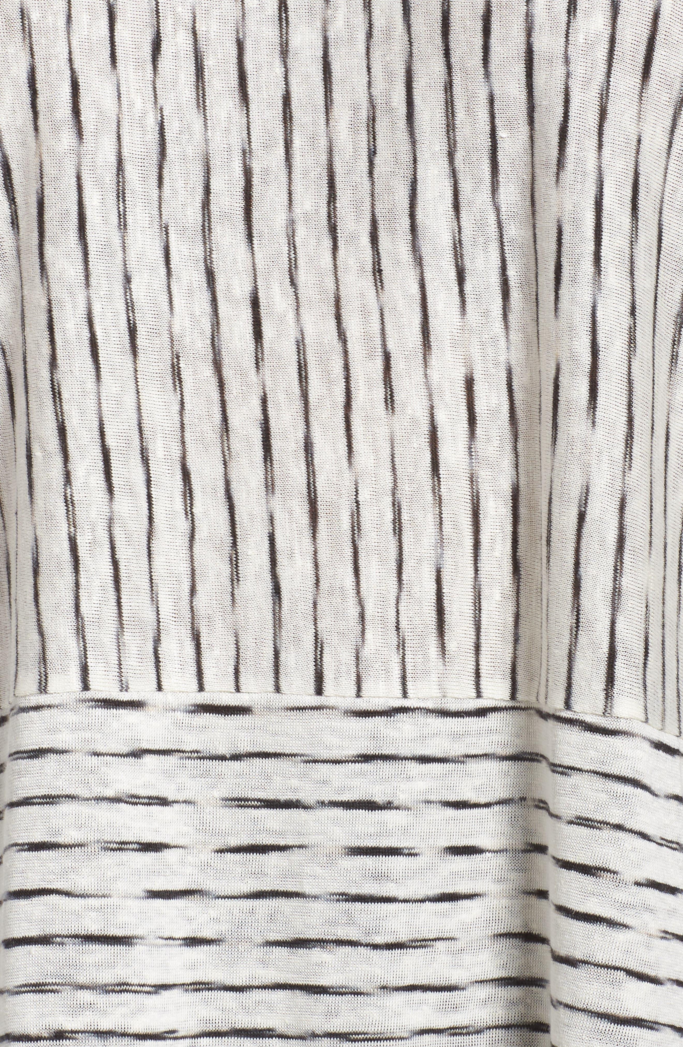 Painterly Organic Linen Jersey Tunic,                             Alternate thumbnail 5, color,                             120