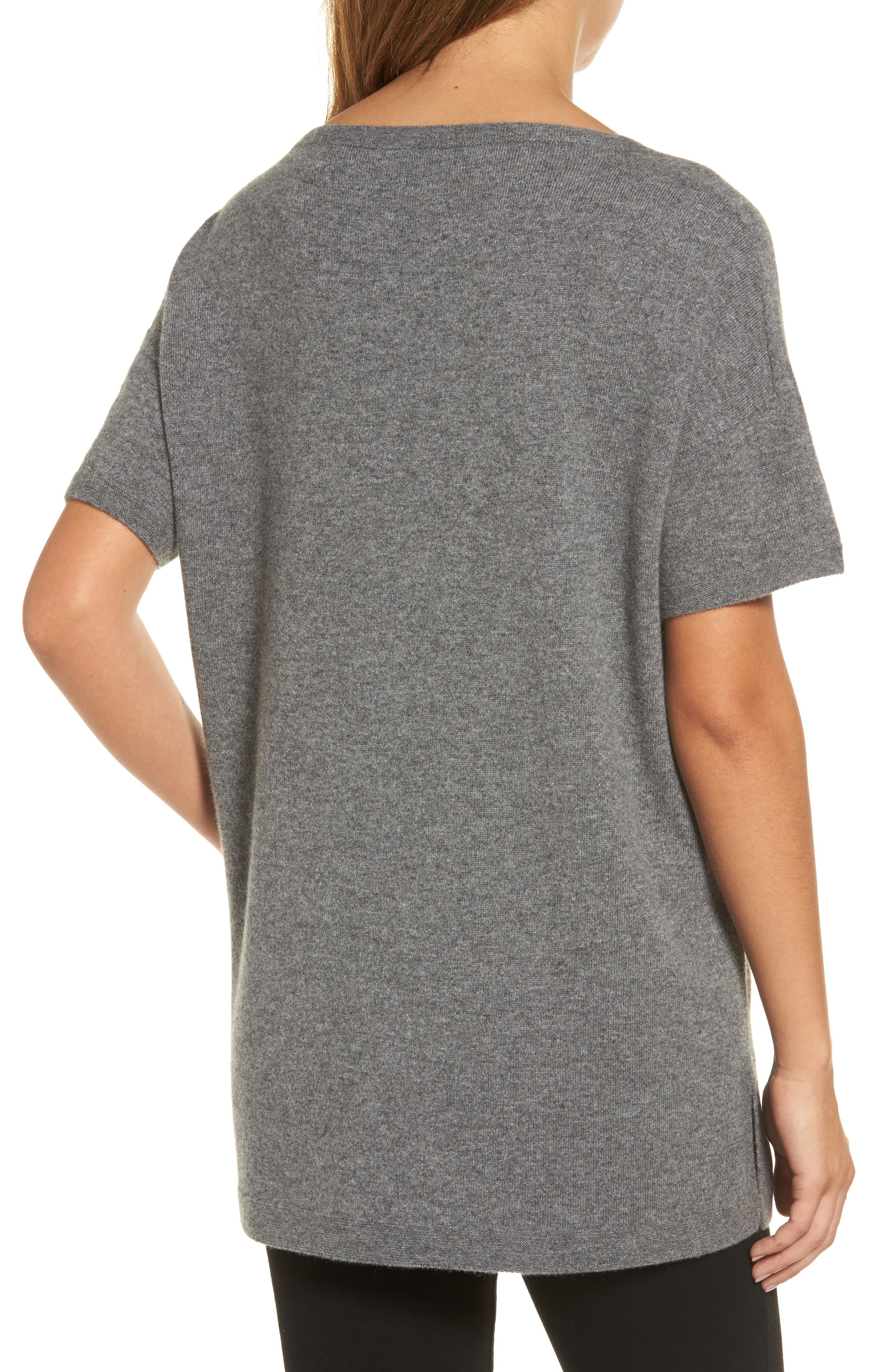 Cashmere Tunic Sweater,                             Alternate thumbnail 2, color,                             030