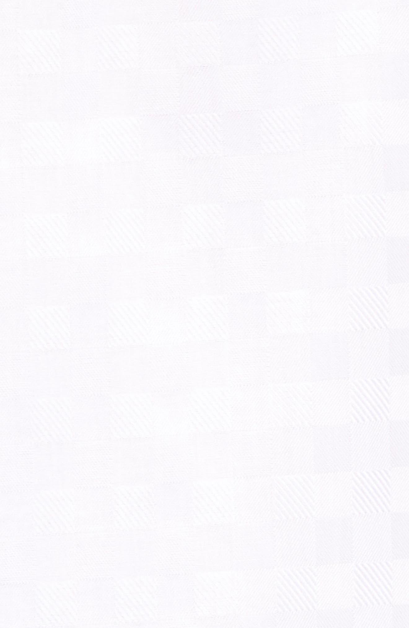 Shaped Fit Tonal Check Sport Shirt,                             Alternate thumbnail 5, color,                             WHITE