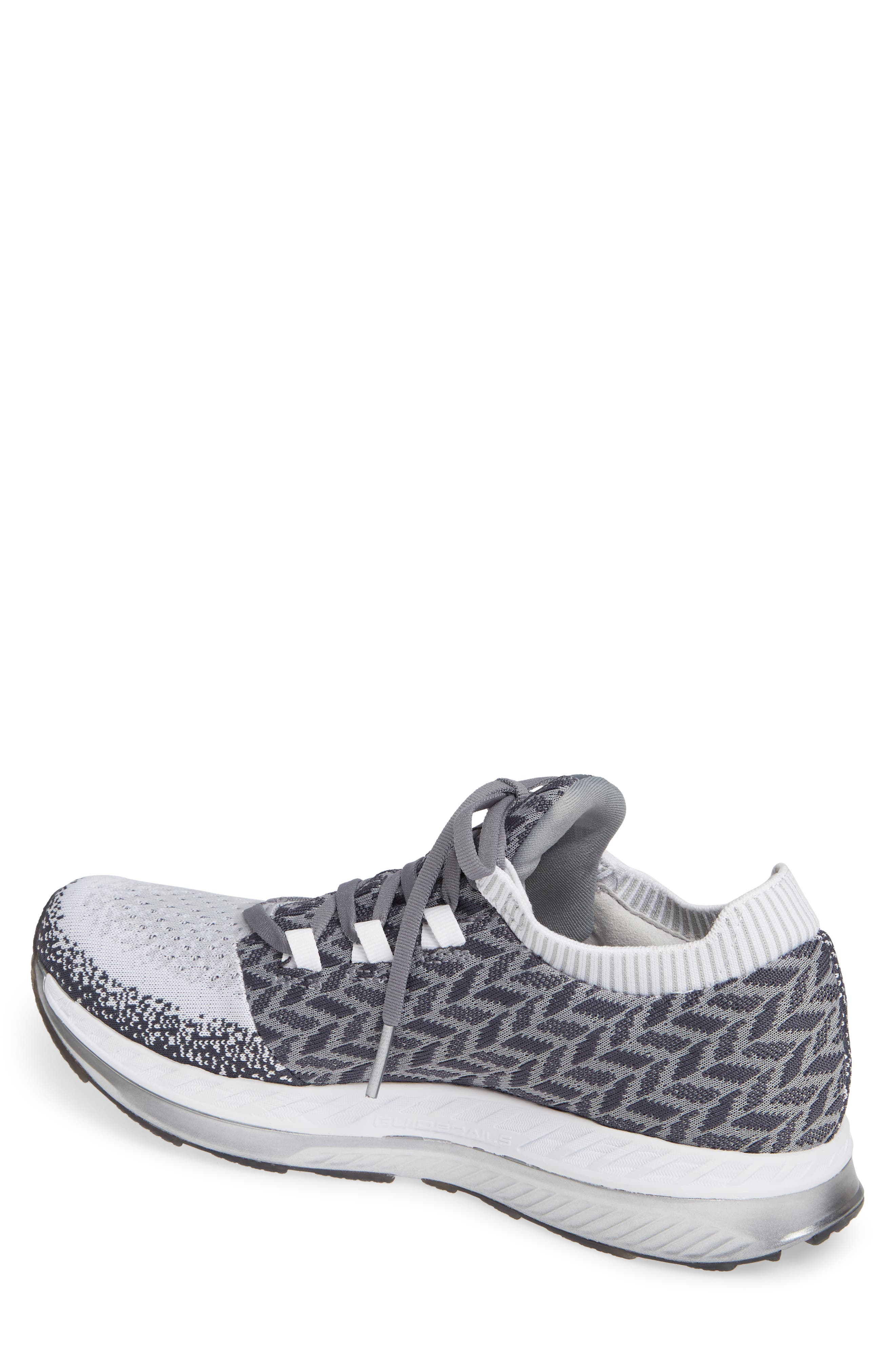 Bedlam Running Shoe,                             Alternate thumbnail 2, color,                             GREY/ WHITE/ EBONY
