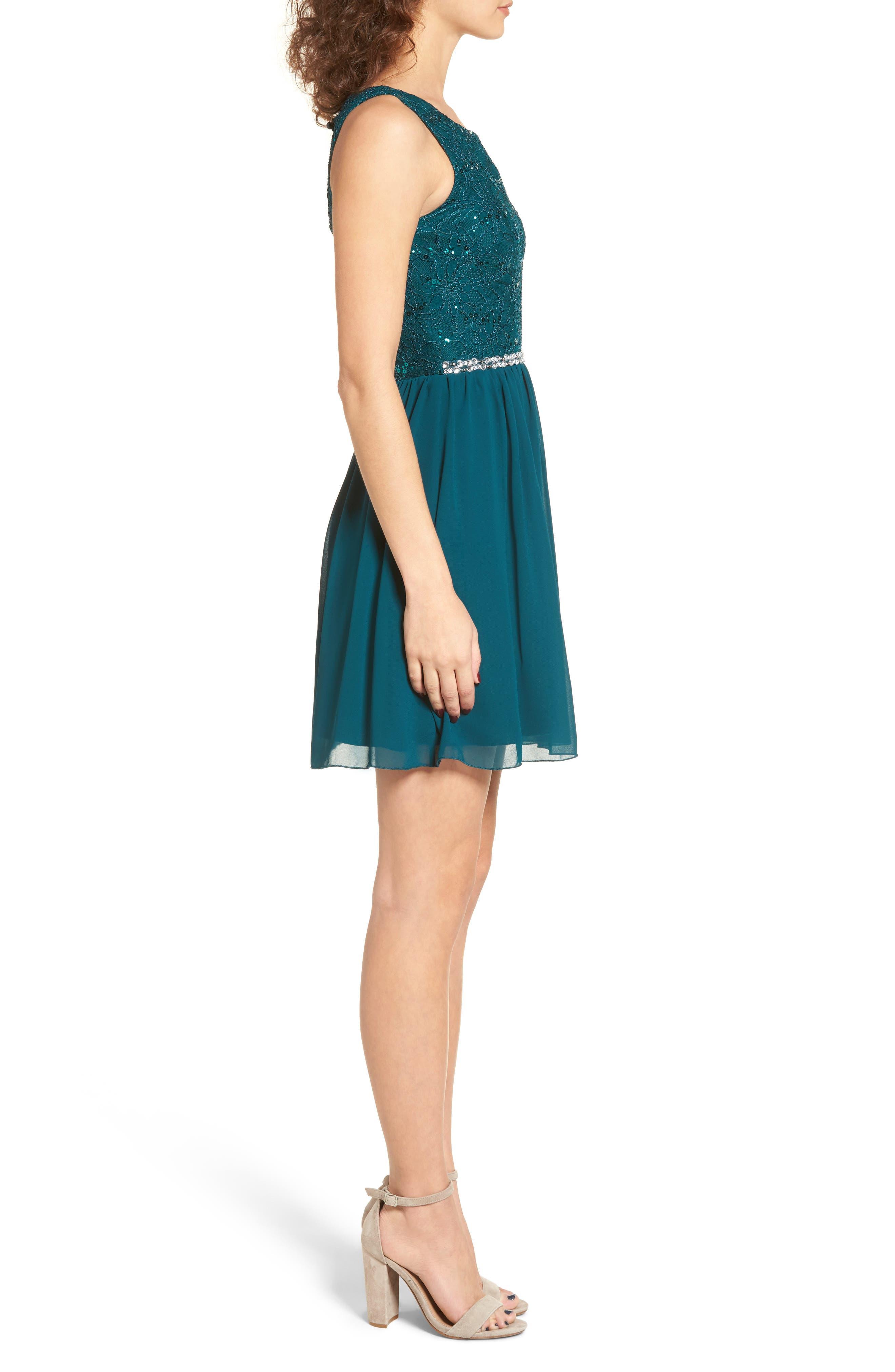Jeweled Belt Dress,                             Alternate thumbnail 5, color,
