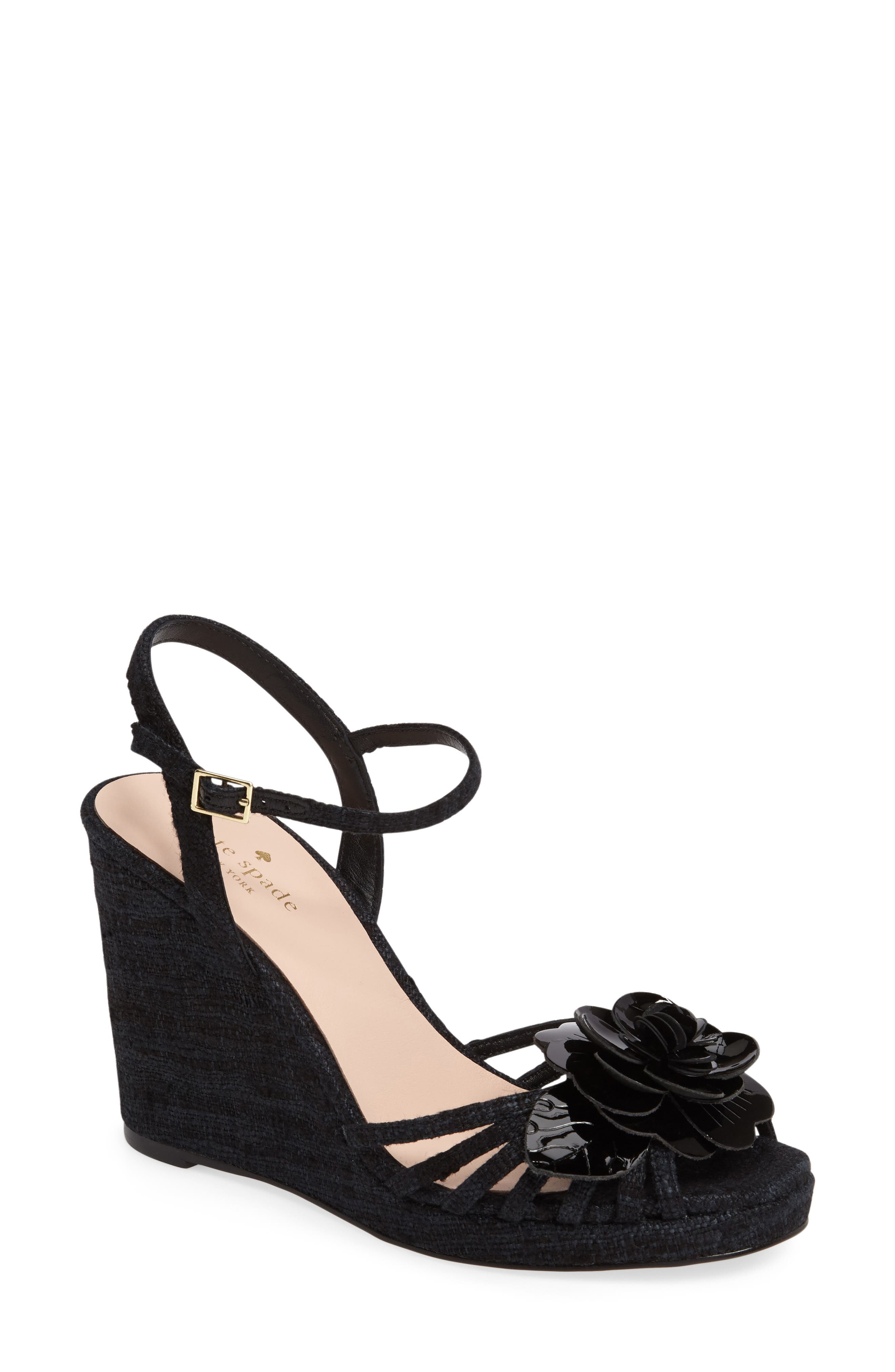 beekman strappy wedge sandal,                         Main,                         color, 001