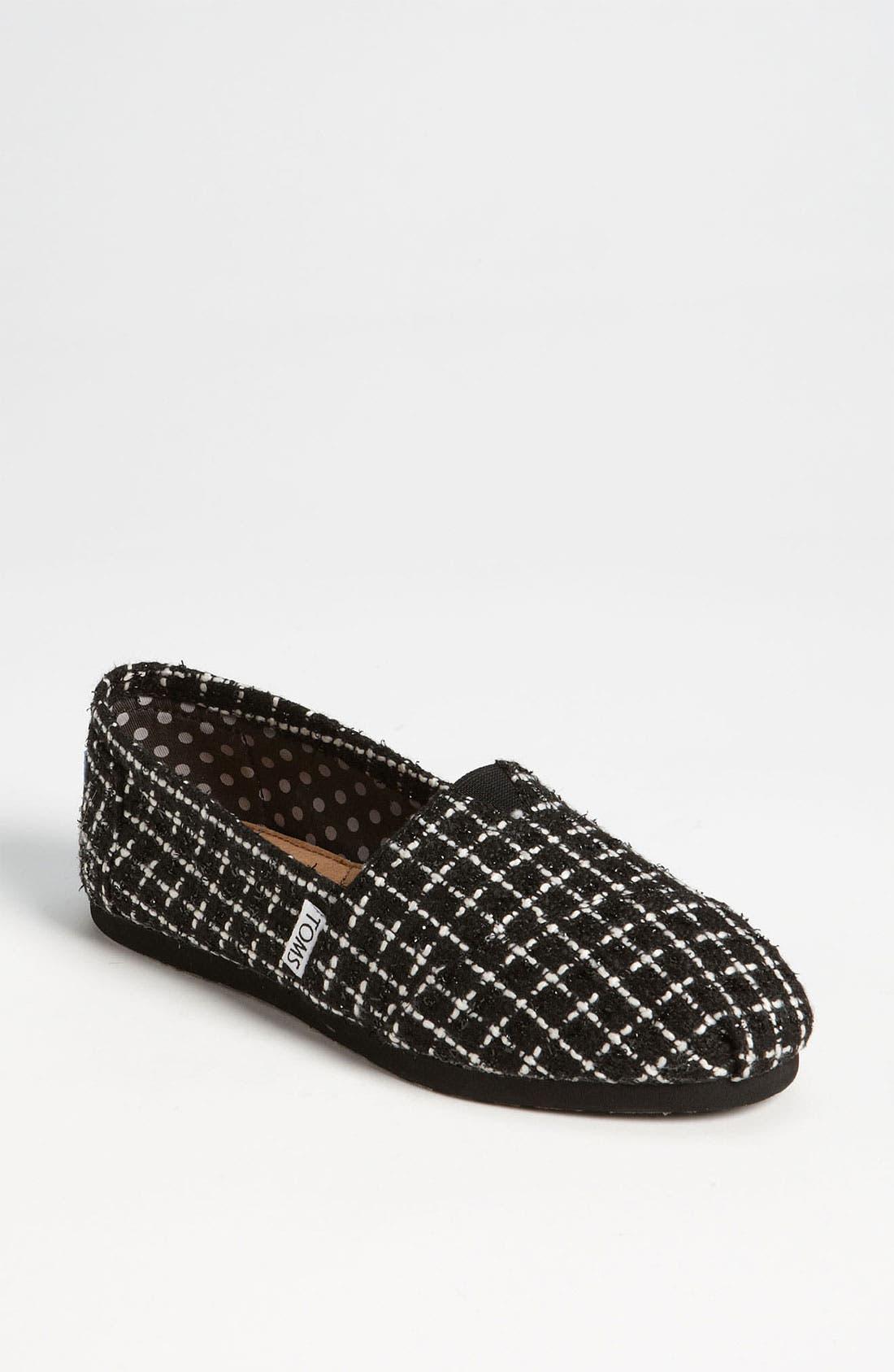 'Classic' Tweed Slip-On, Main, color, 002