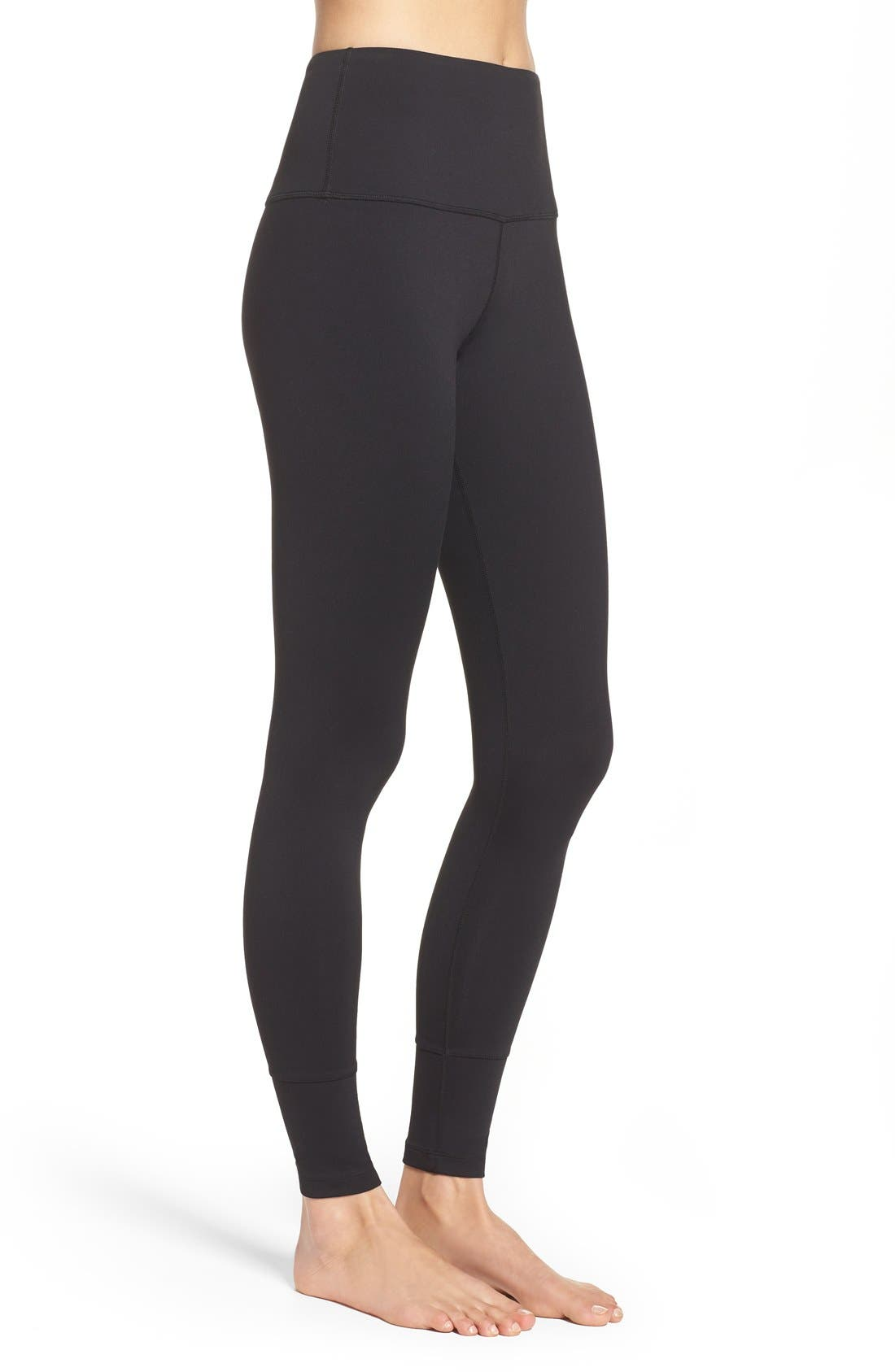 'Bardot' High Waist Leggings,                             Alternate thumbnail 4, color,                             001