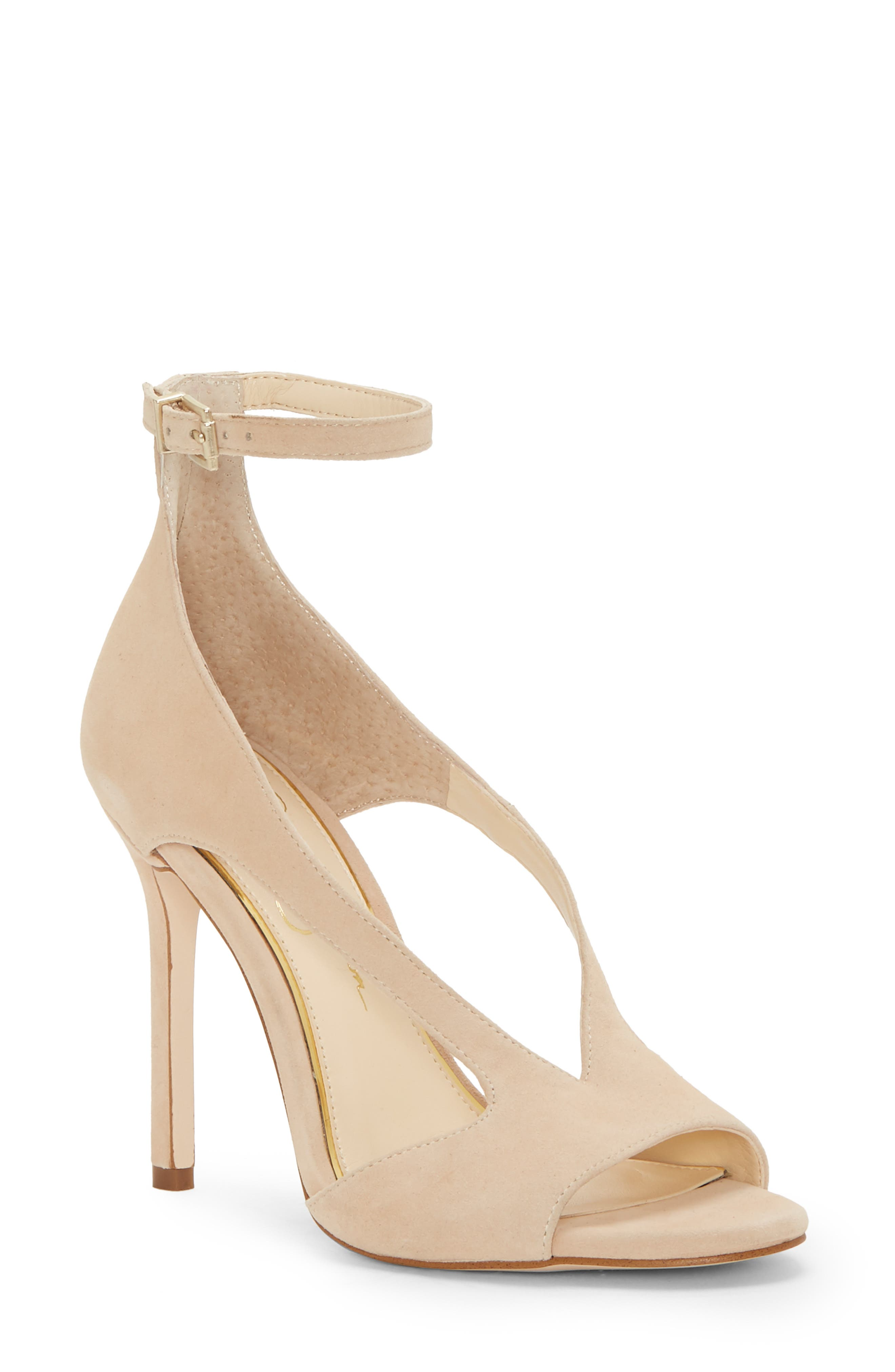 Jessica Simpson Jasta Ankle Strap Sandal, Beige