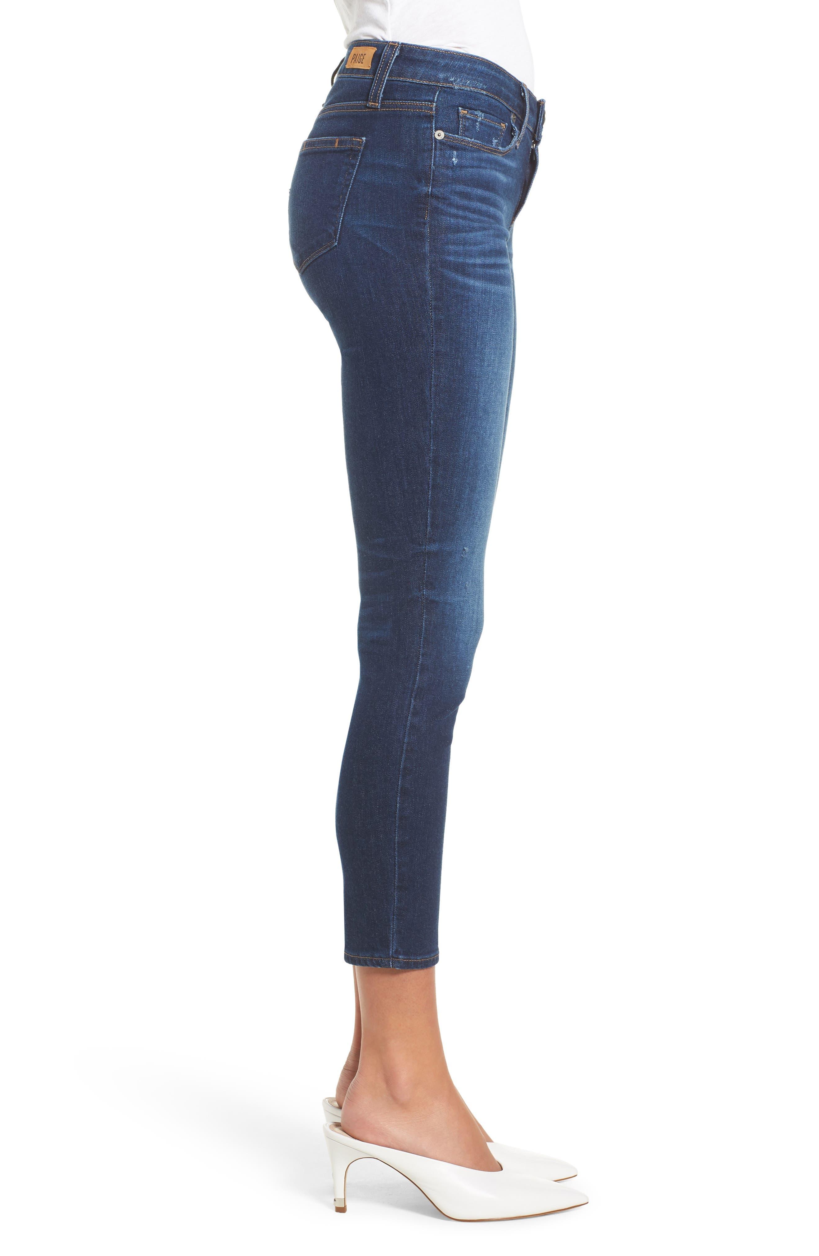 Verdugo Transcend Vintage Crop Skinny Jeans,                             Alternate thumbnail 3, color,                             400