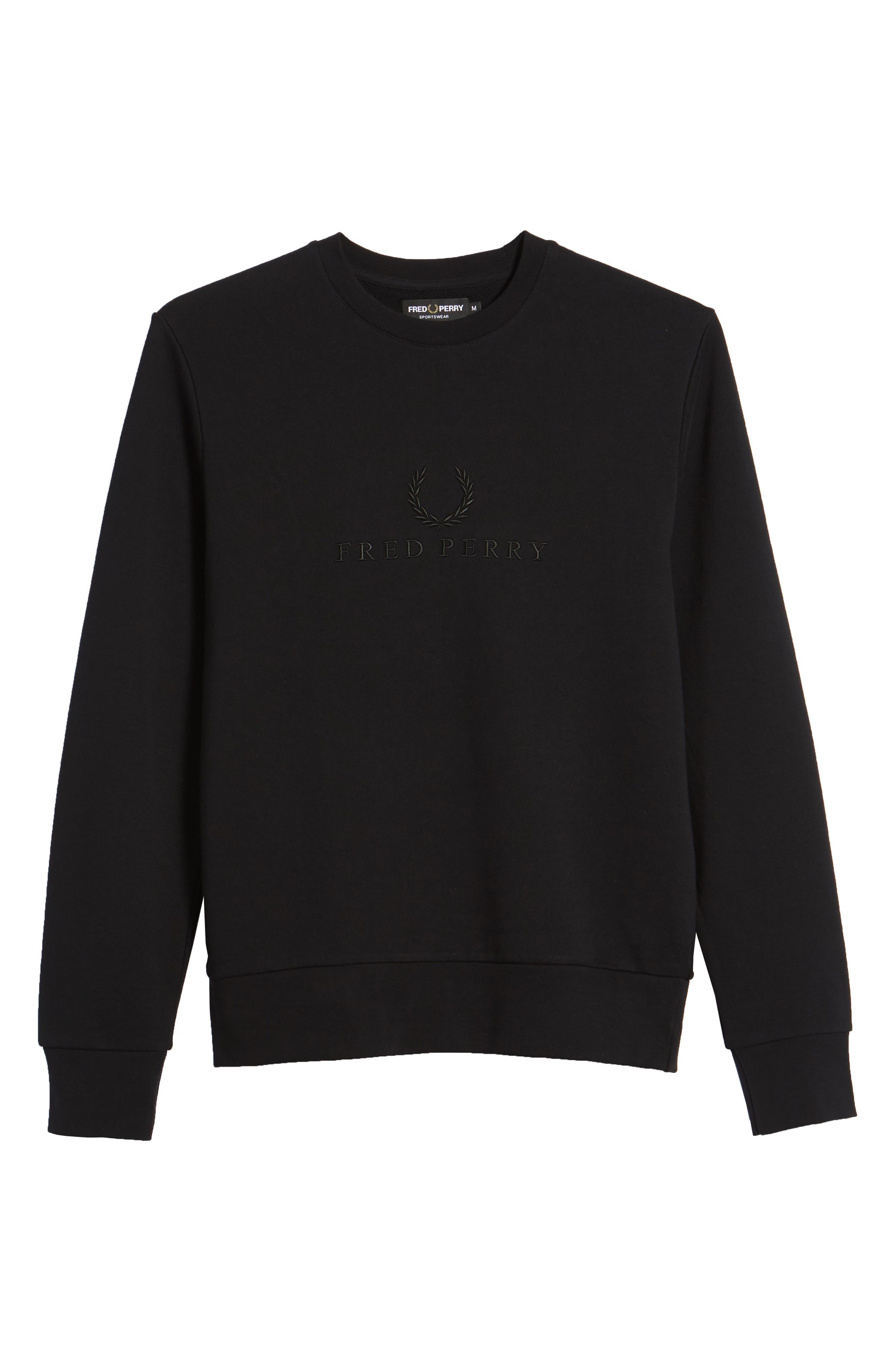 Embroidered Sweatshirt,                             Alternate thumbnail 6, color,                             001