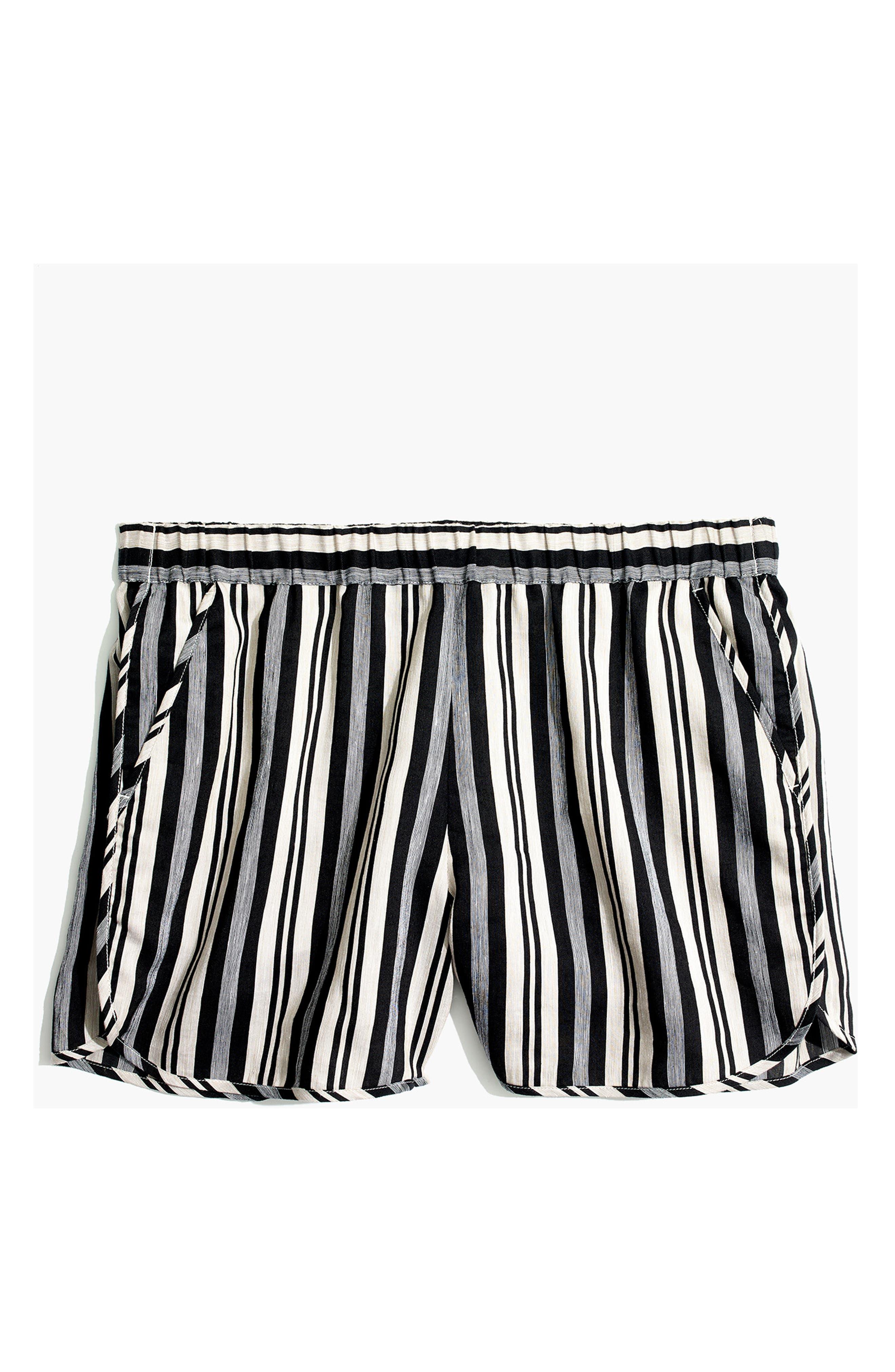 Stripe Pull-On Shorts,                             Alternate thumbnail 4, color,                             STONE
