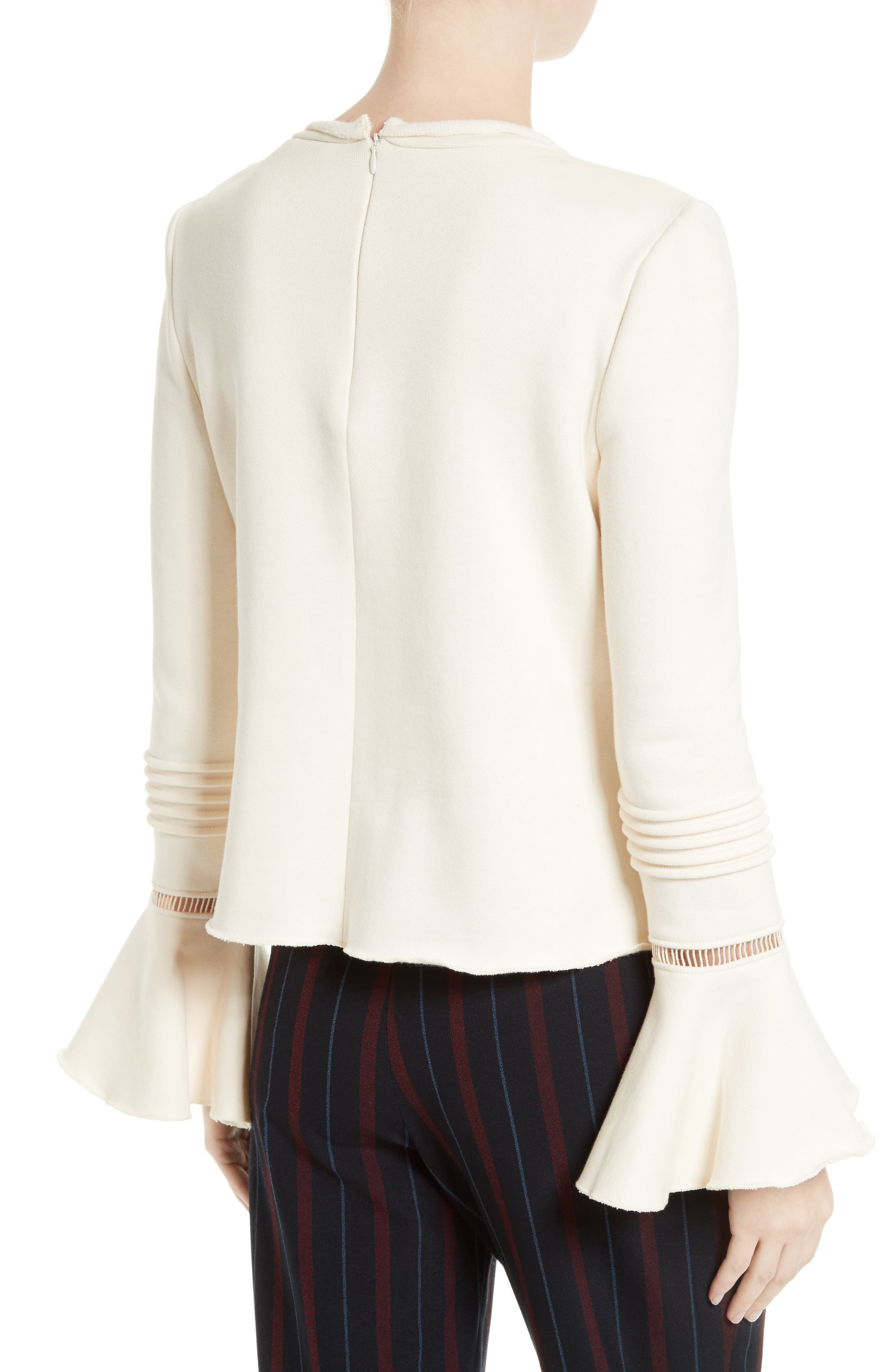 Bell Sleeve Cotton Top,                             Alternate thumbnail 2, color,                             900