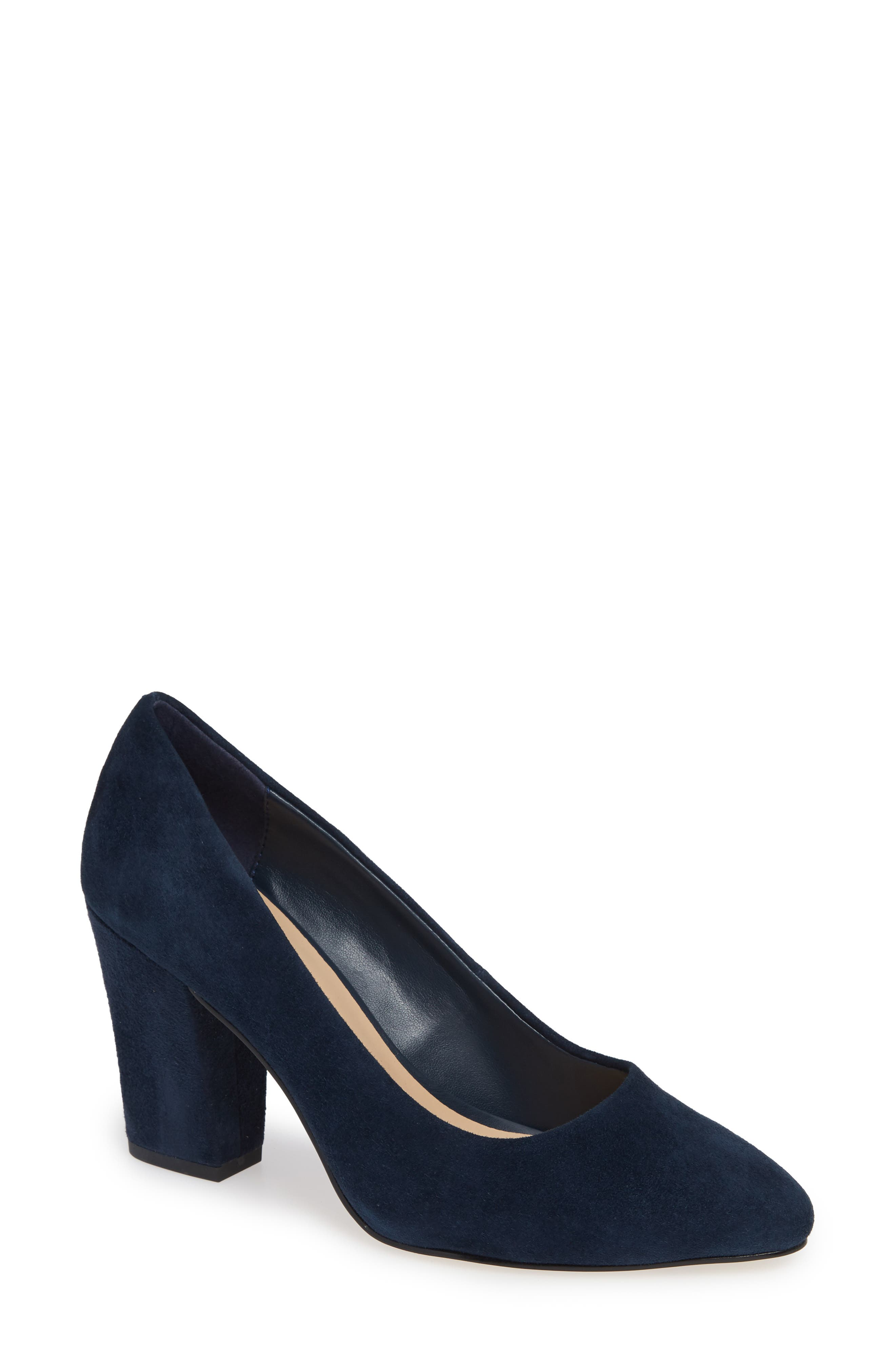 Gigi Pump,                             Main thumbnail 1, color,                             NAVY SUEDE