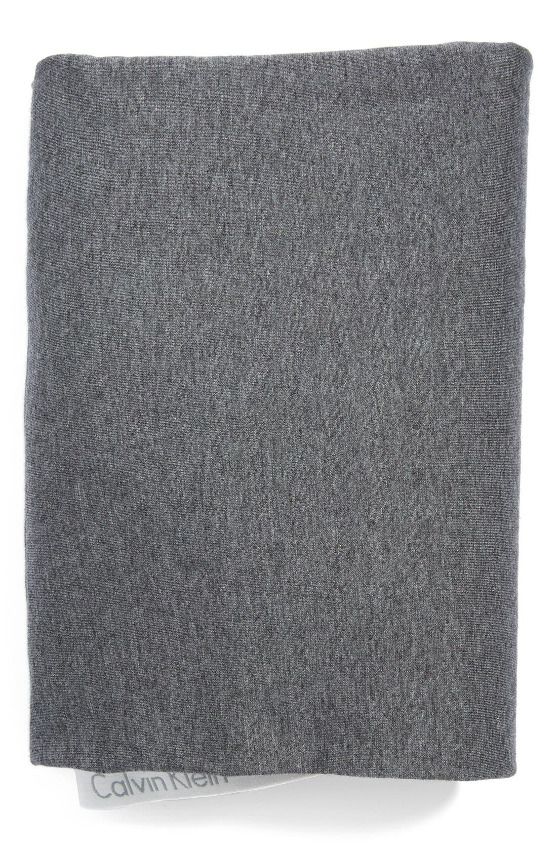 Modern Cotton Collection Cotton & Modal Fitted Sheet,                             Main thumbnail 1, color,                             CHARCOAL