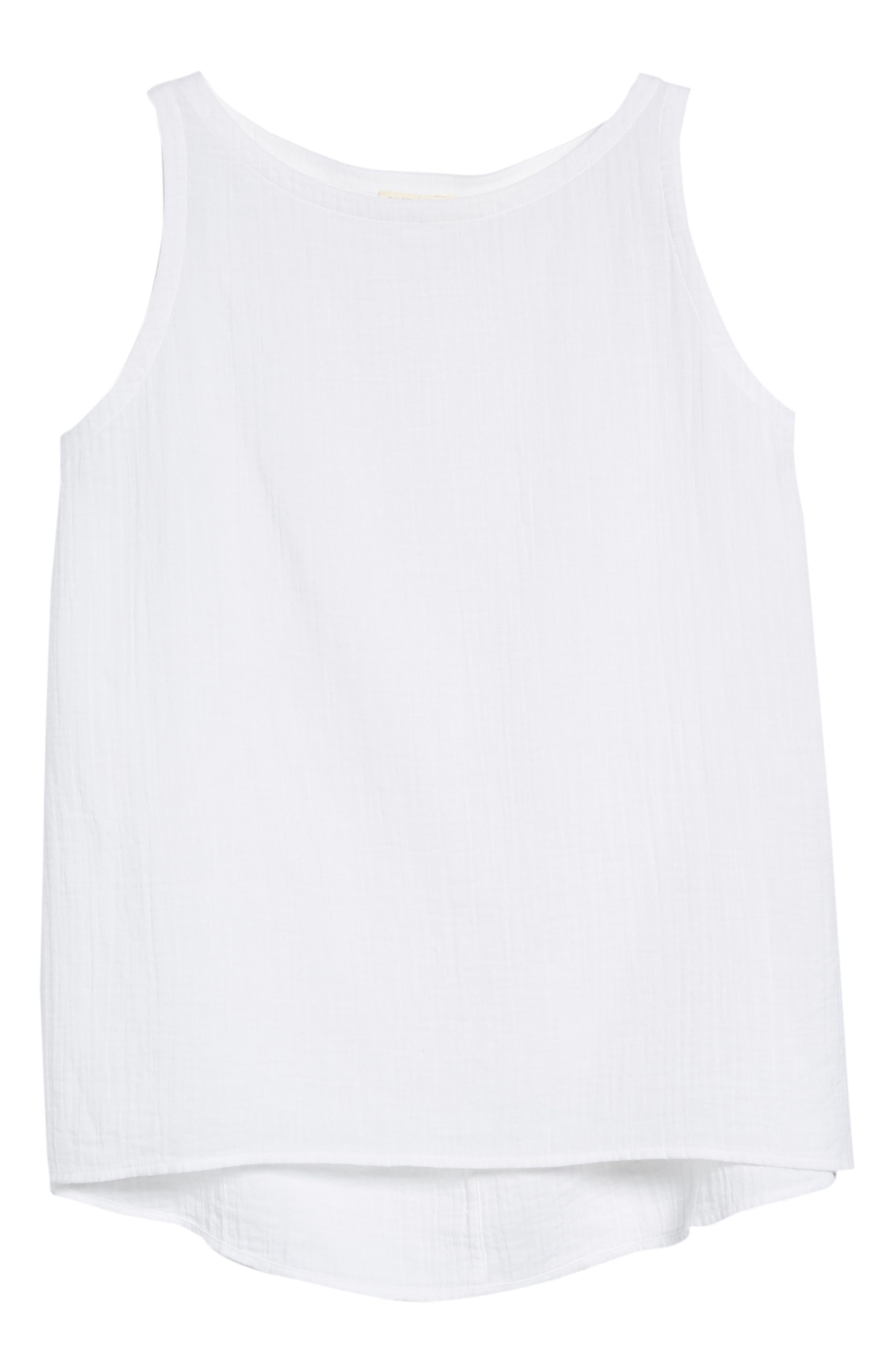 Organic Cotton Swing Shell,                             Alternate thumbnail 6, color,                             100