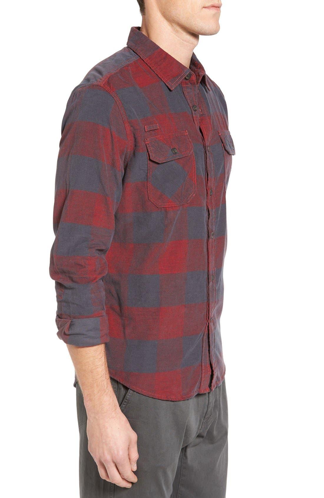 Knock on My Door Regular Fit Check Corduroy Shirt,                             Alternate thumbnail 18, color,