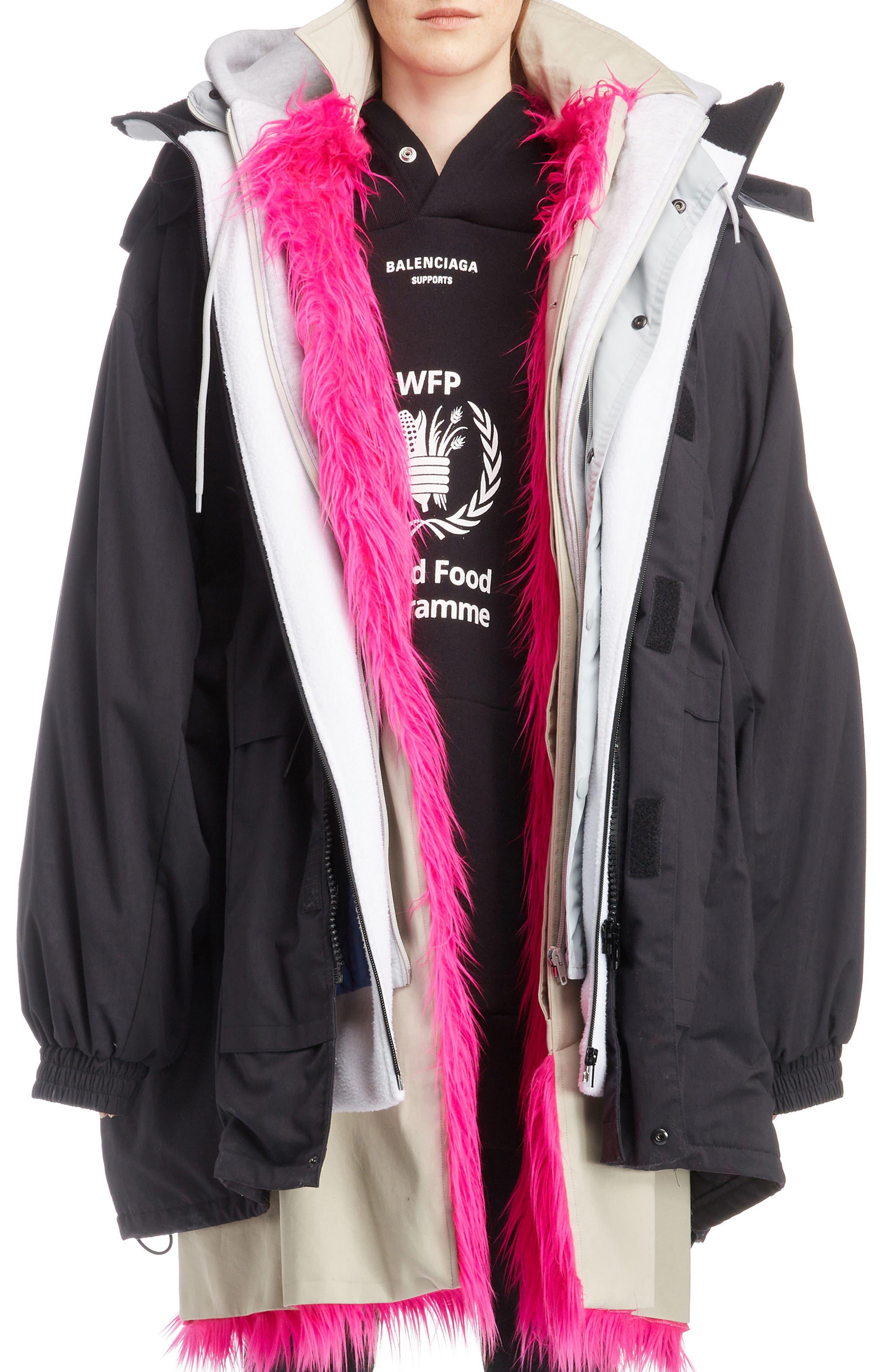 Layered Coat,                             Main thumbnail 1, color,                             1000-BLACK