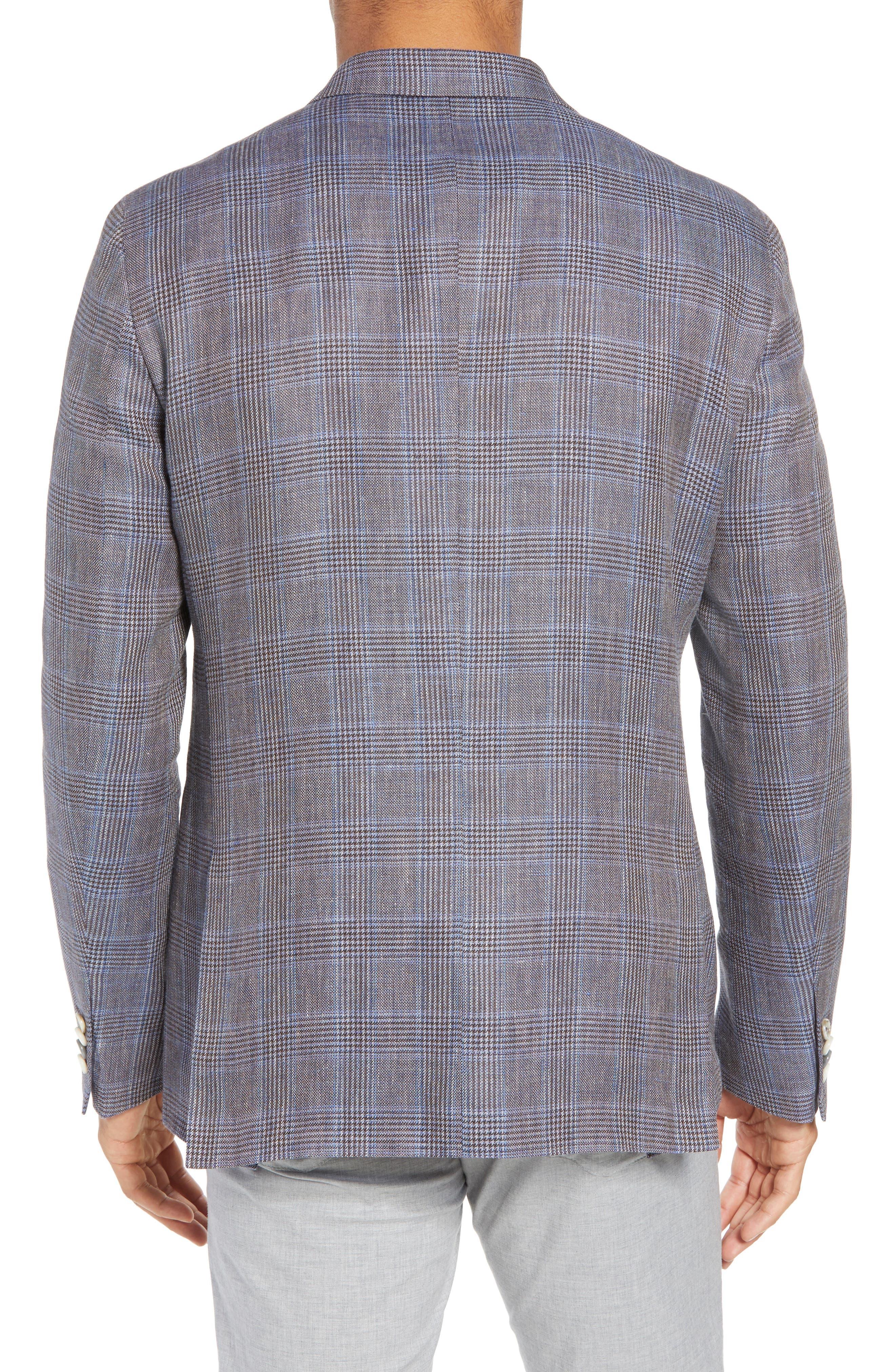 Glenn Trim Fit Plaid Linen Blend Sport Coat,                             Alternate thumbnail 2, color,                             200