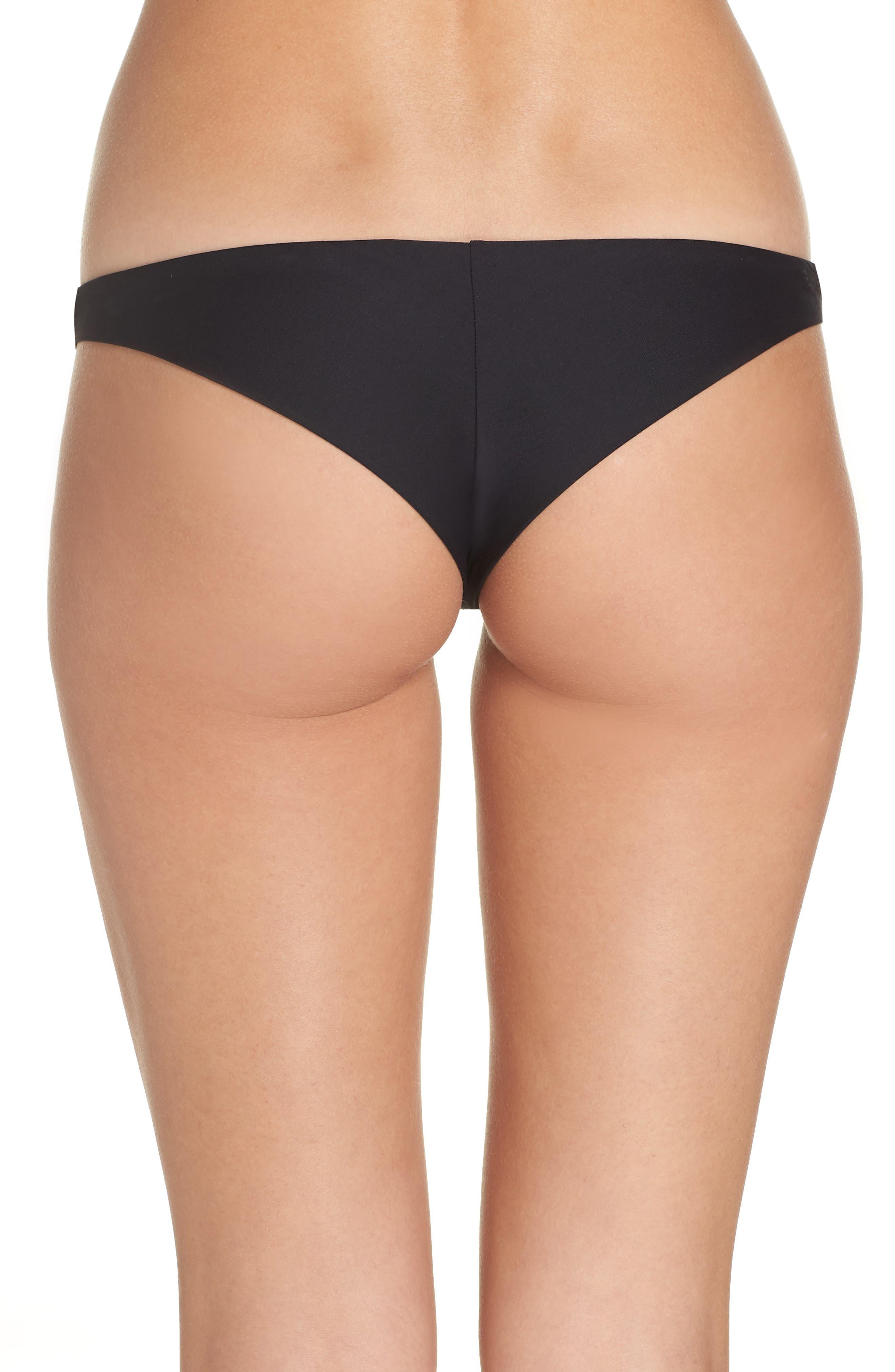 Sol Searcher Tanga Cheeky Bikini Bottom,                             Alternate thumbnail 2, color,                             001