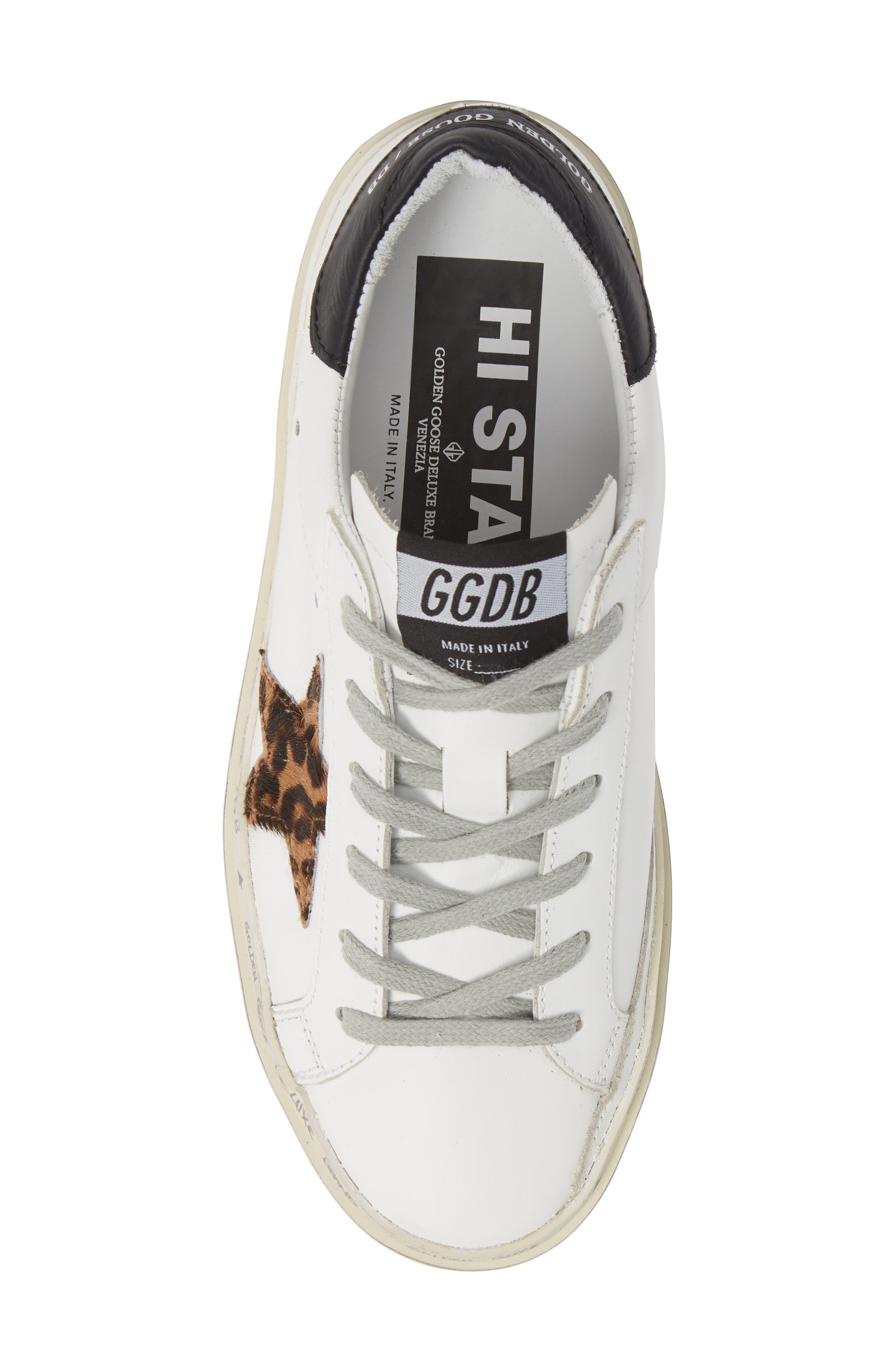 Hi Star Genuine Calf Hair Platform Sneaker,                             Alternate thumbnail 5, color,                             100