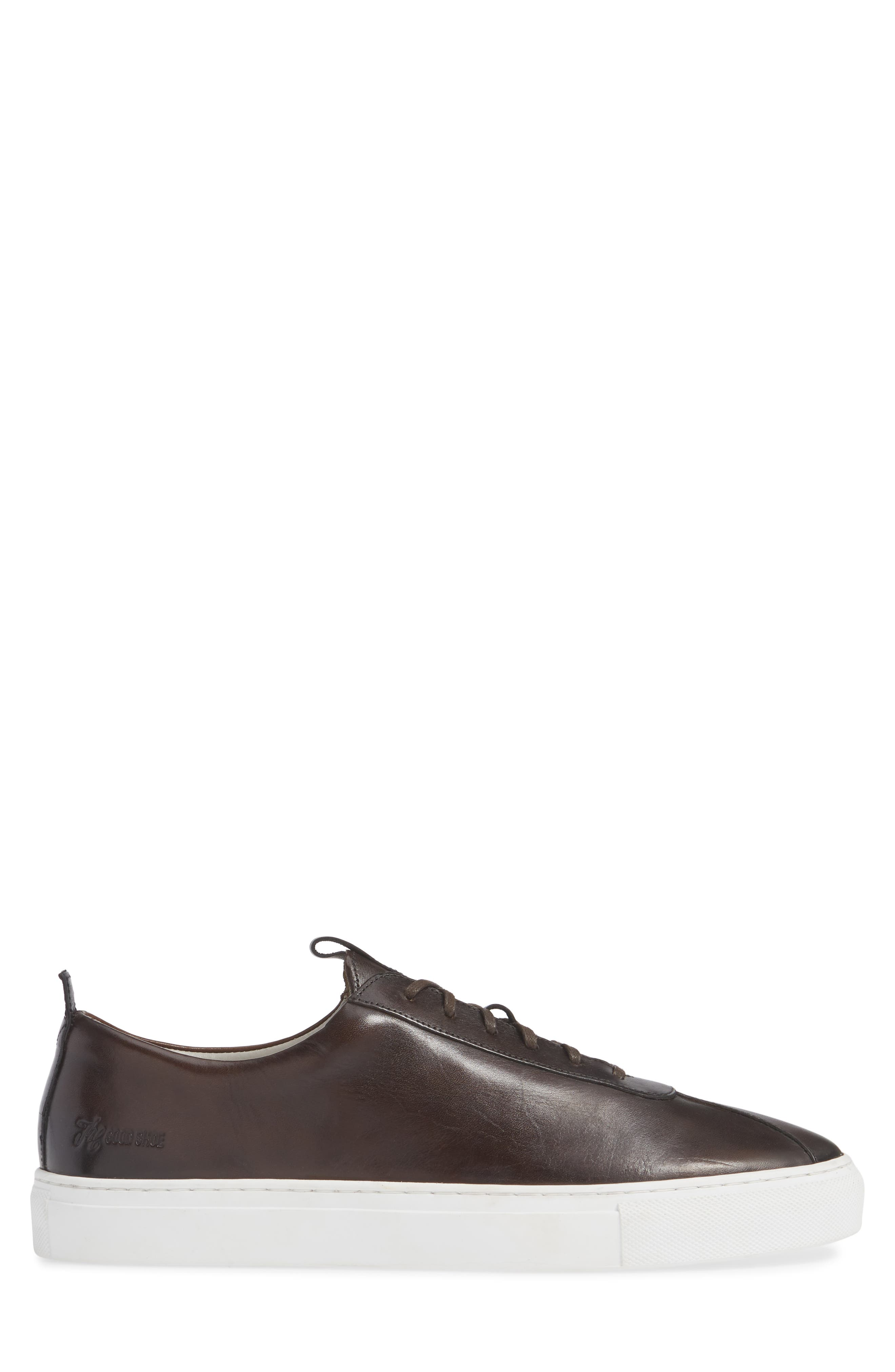 GRENSON,                             Low Top Sneaker,                             Alternate thumbnail 3, color,                             BROWN HAND PAINTED