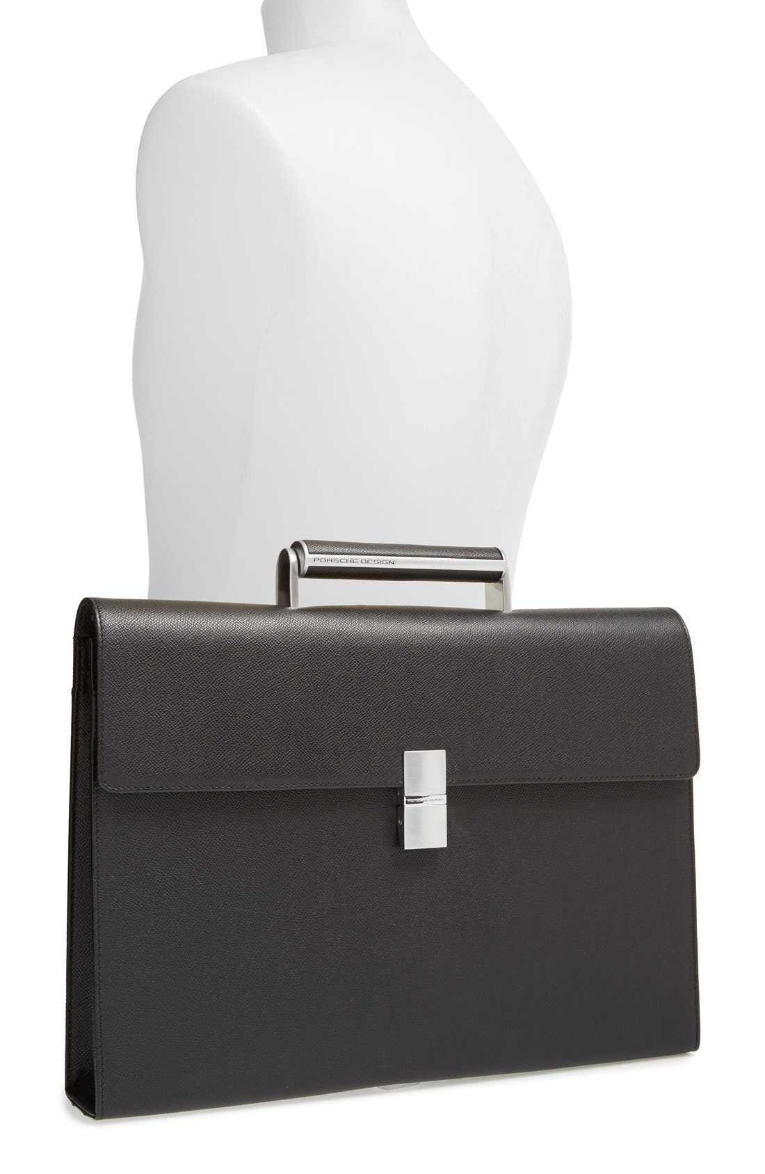 French Classic 3.0 Leather Briefcase,                             Alternate thumbnail 2, color,
