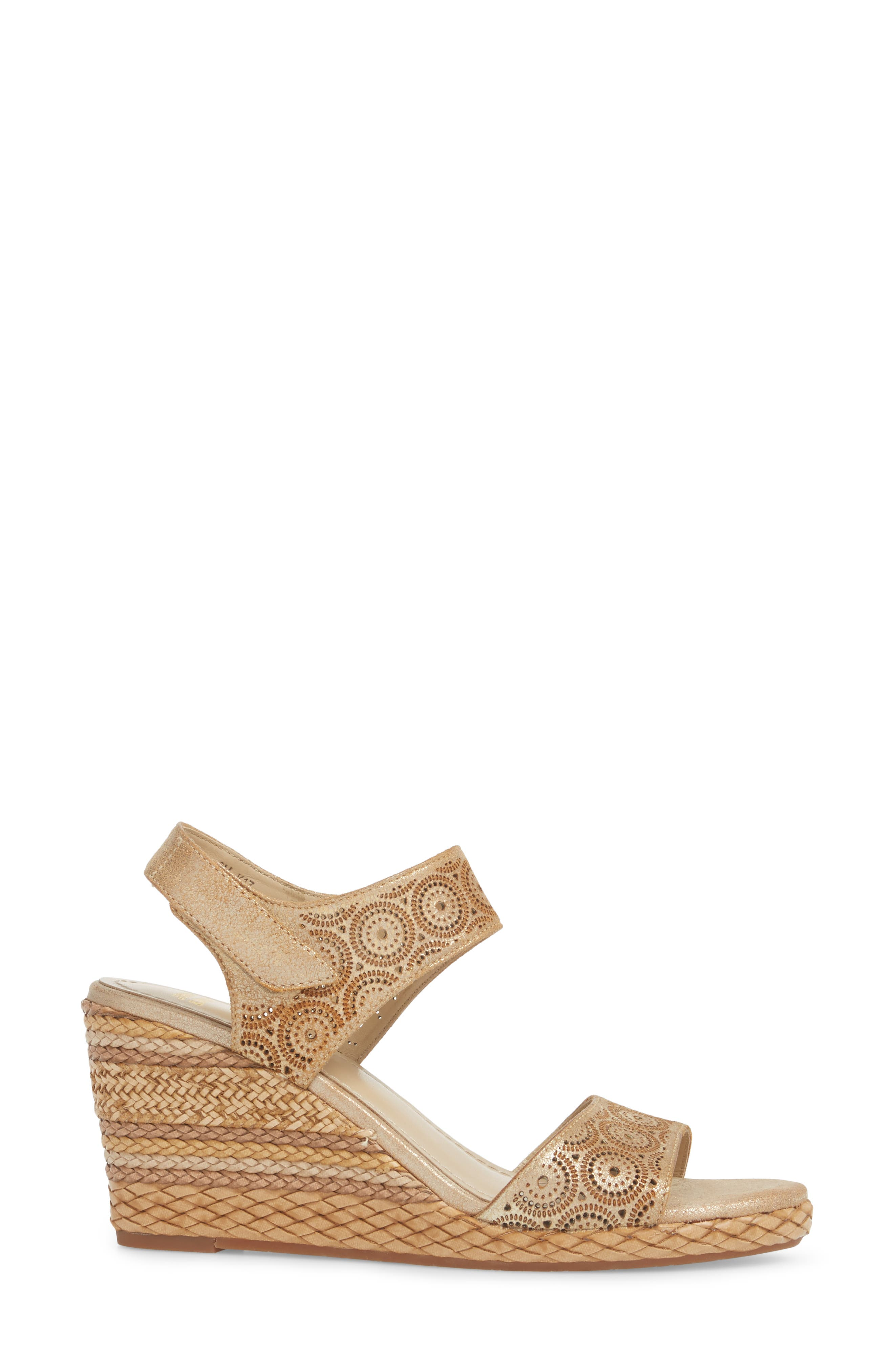Georgiana Wedge Sandal,                             Alternate thumbnail 6, color,