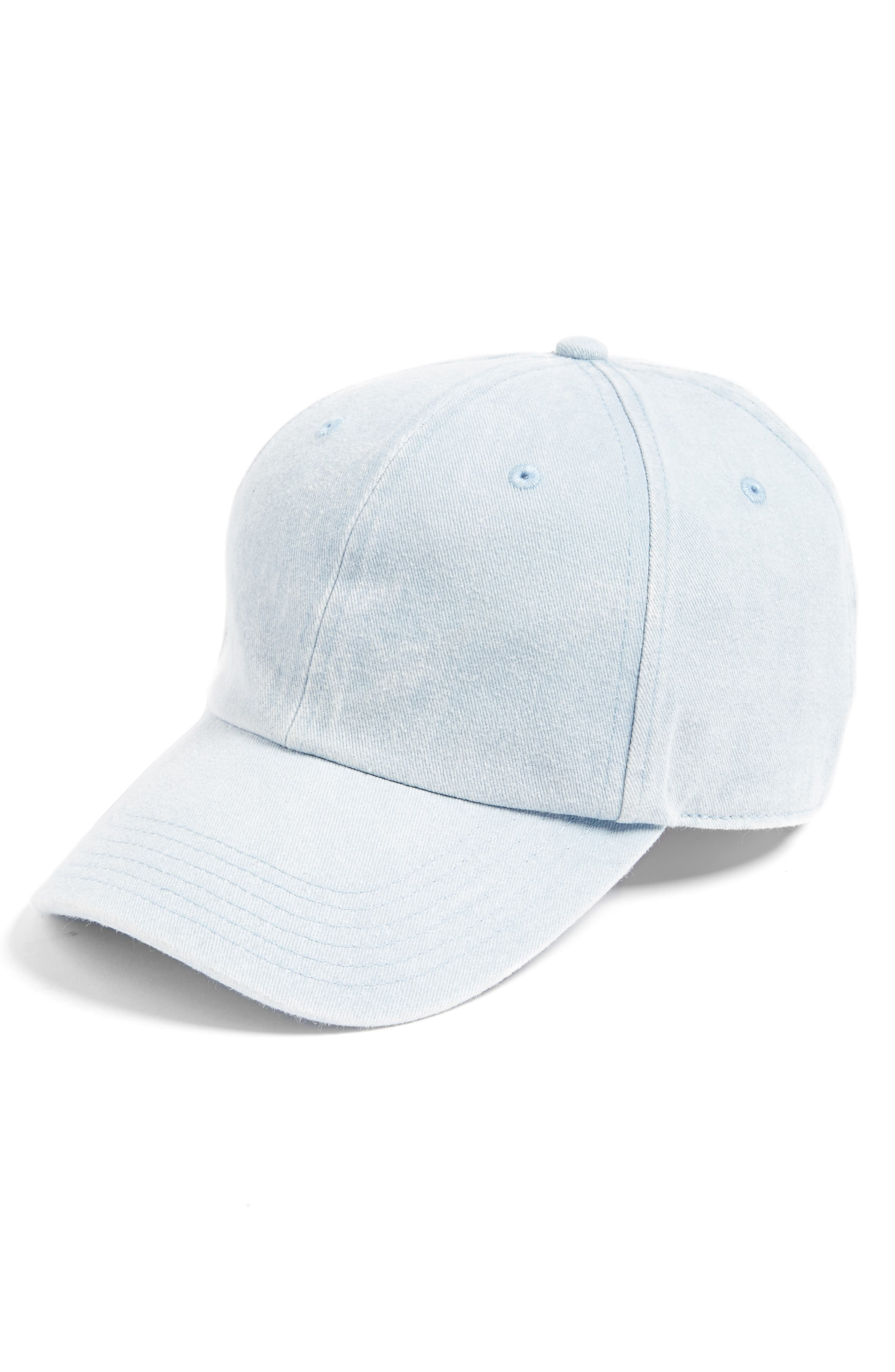 Canvas Baseball Cap,                             Main thumbnail 1, color,                             CHAMBRAY WASHED