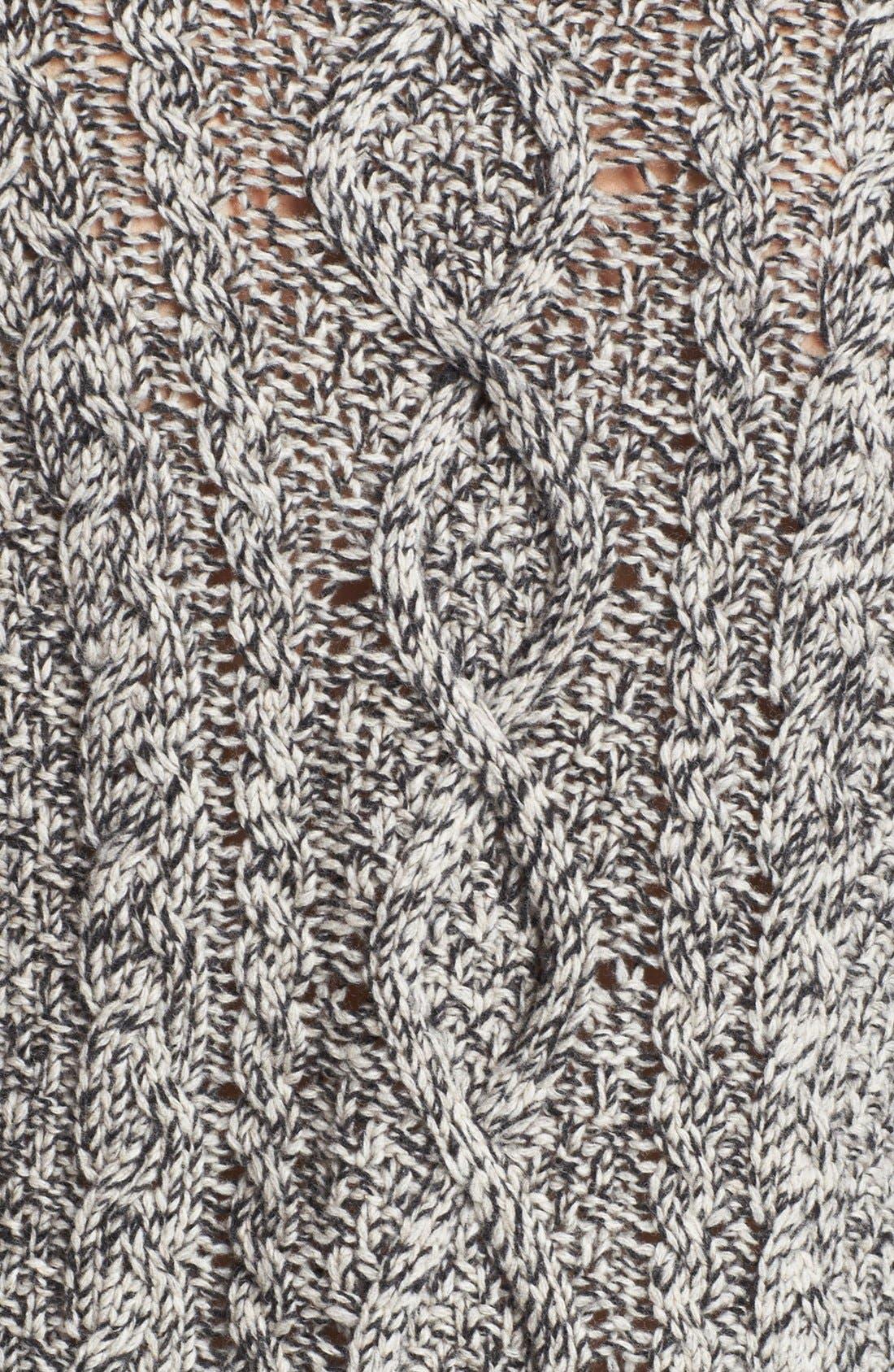 Colorblock Turtleneck Sweater,                             Alternate thumbnail 3, color,                             020