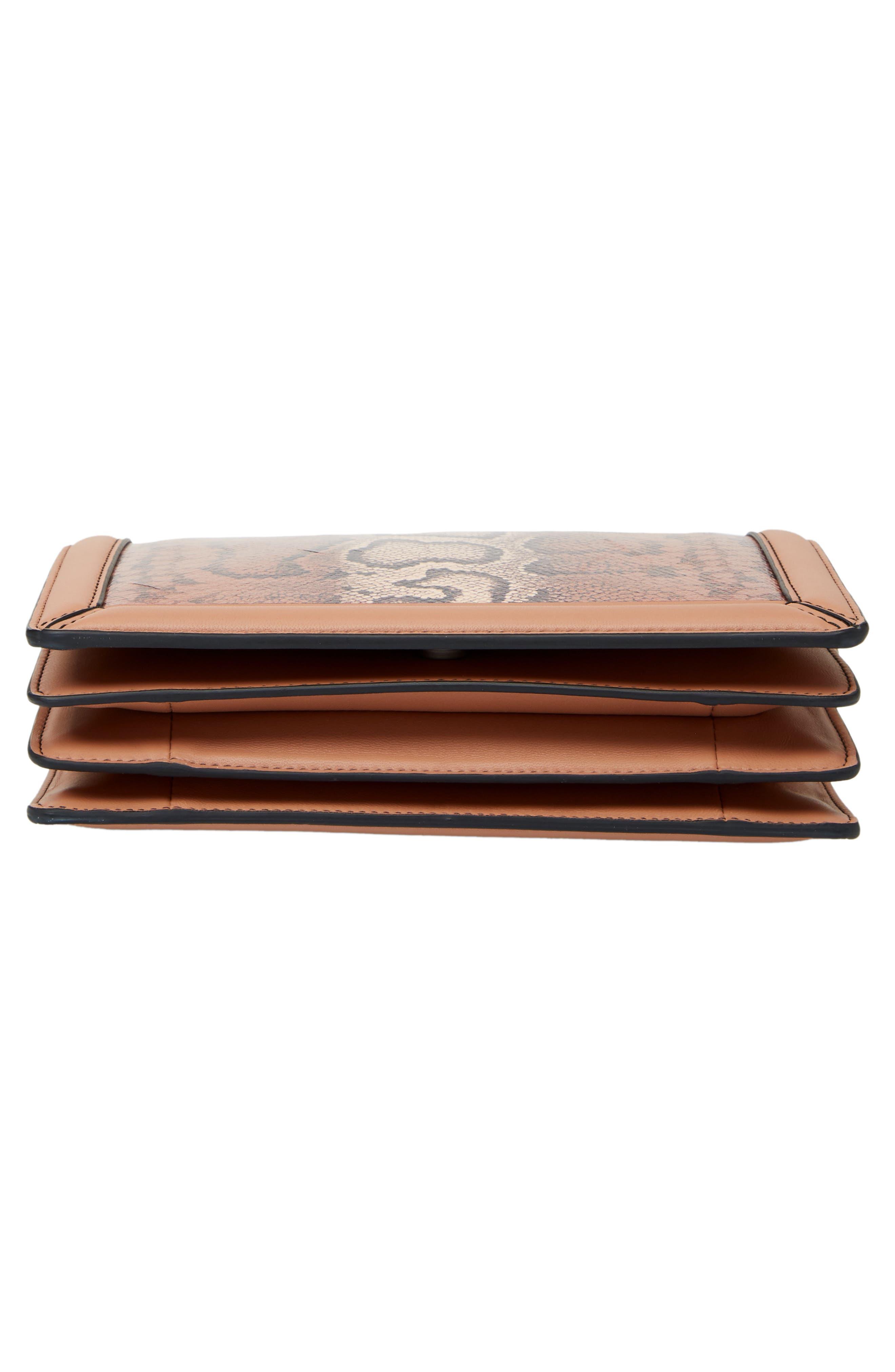 Mini Motobello Genuine Snakeskin & Leather Wallet on a Chain,                             Alternate thumbnail 6, color,                             566