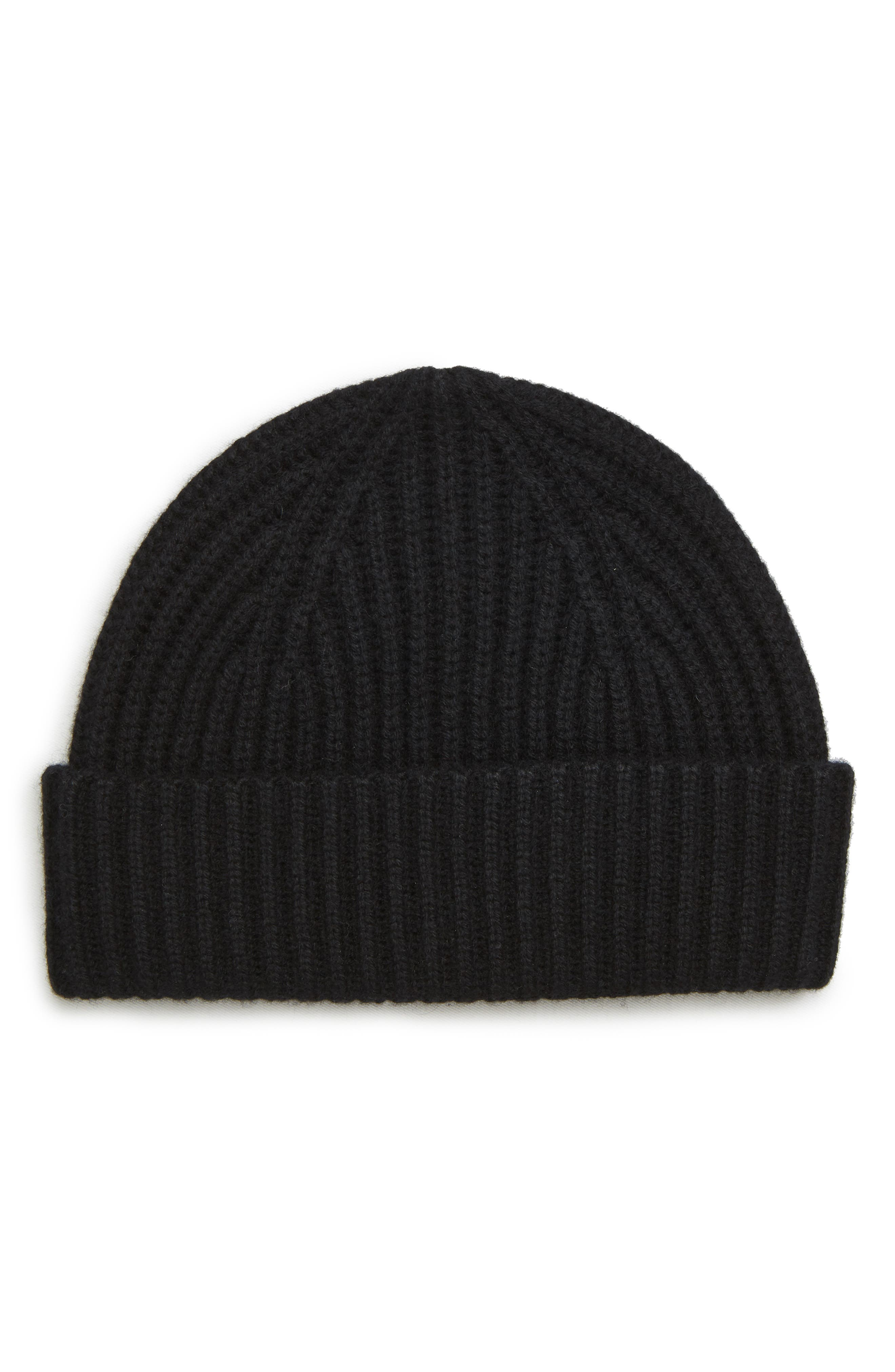 Cashmere Knit Cap,                         Main,                         color, BLACK