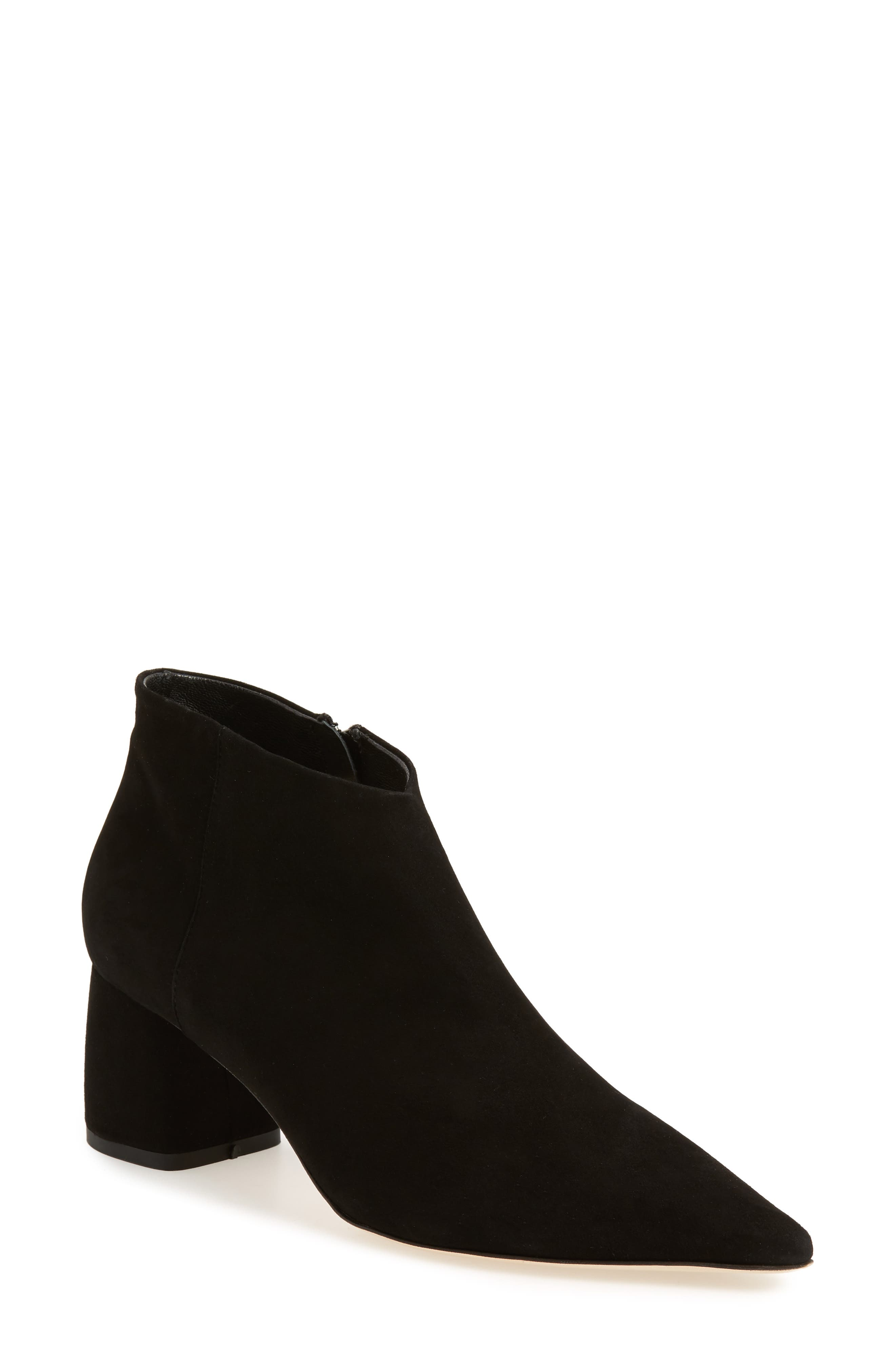 Butter Whistle Pointy Toe Bootie,                             Main thumbnail 1, color,                             001