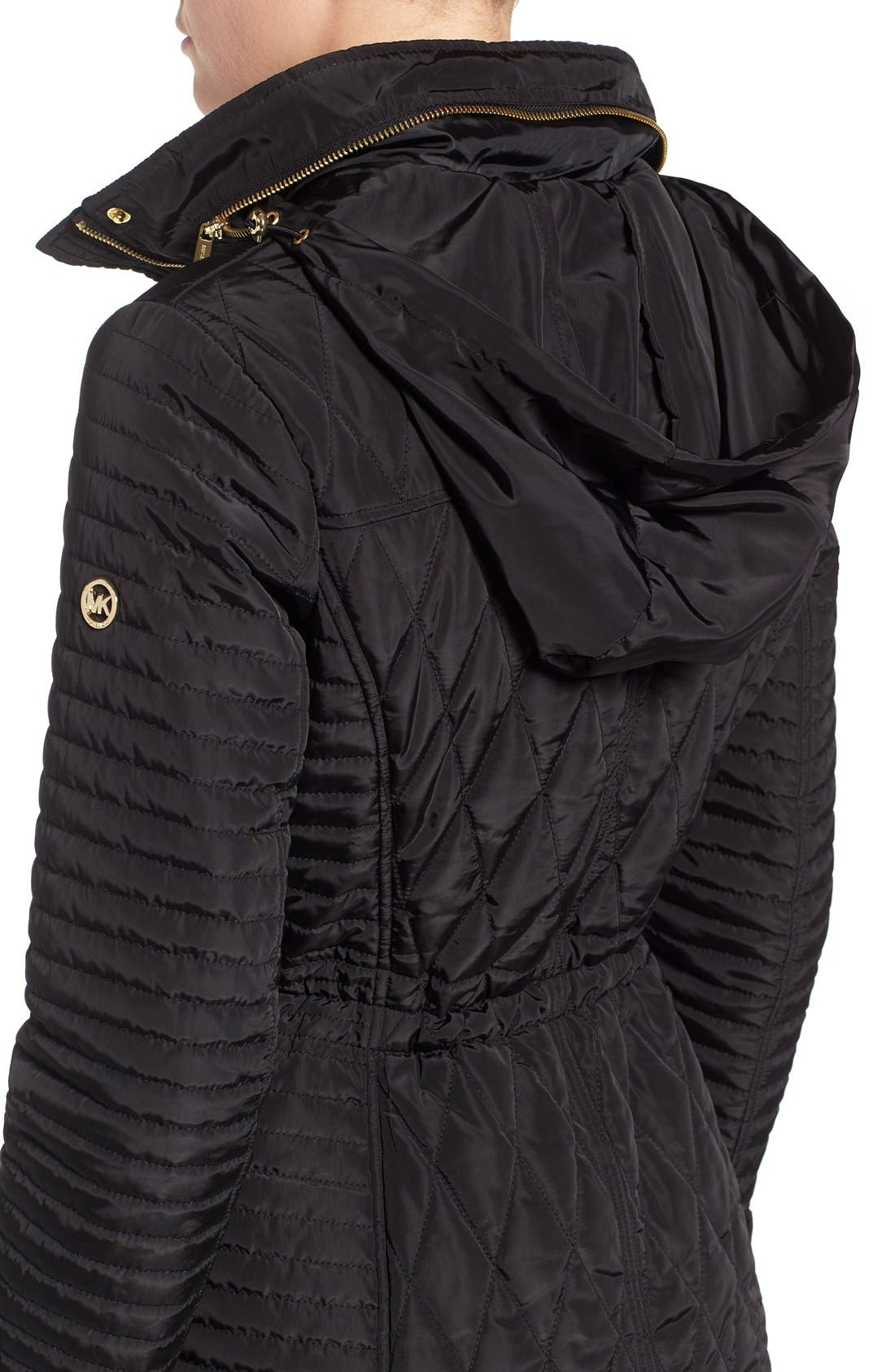 Quilted Anorak,                             Alternate thumbnail 4, color,                             001