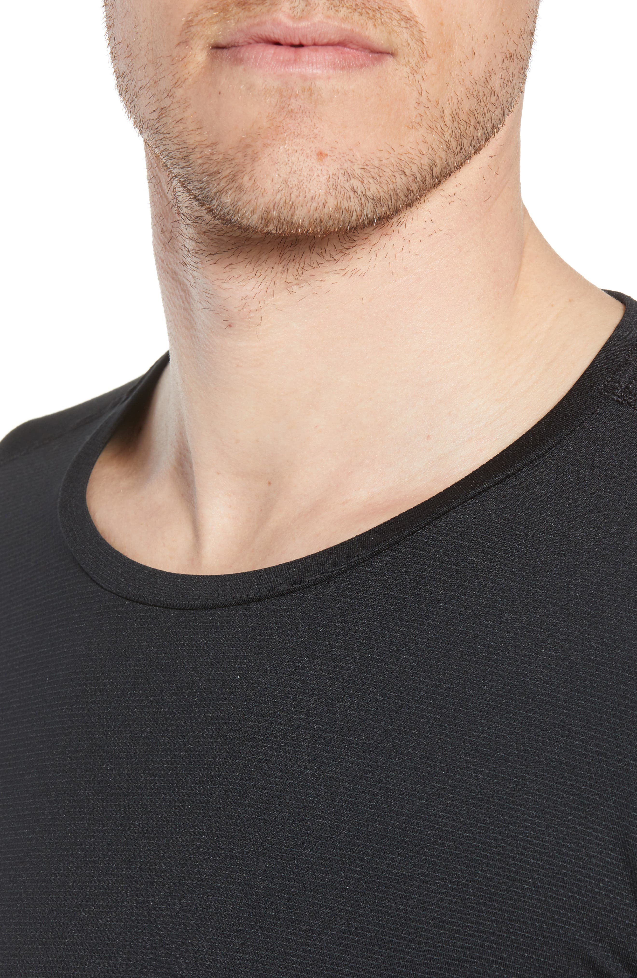 Pro Utility Fitted Training Top,                             Alternate thumbnail 4, color,                             BLACK/ BLACK