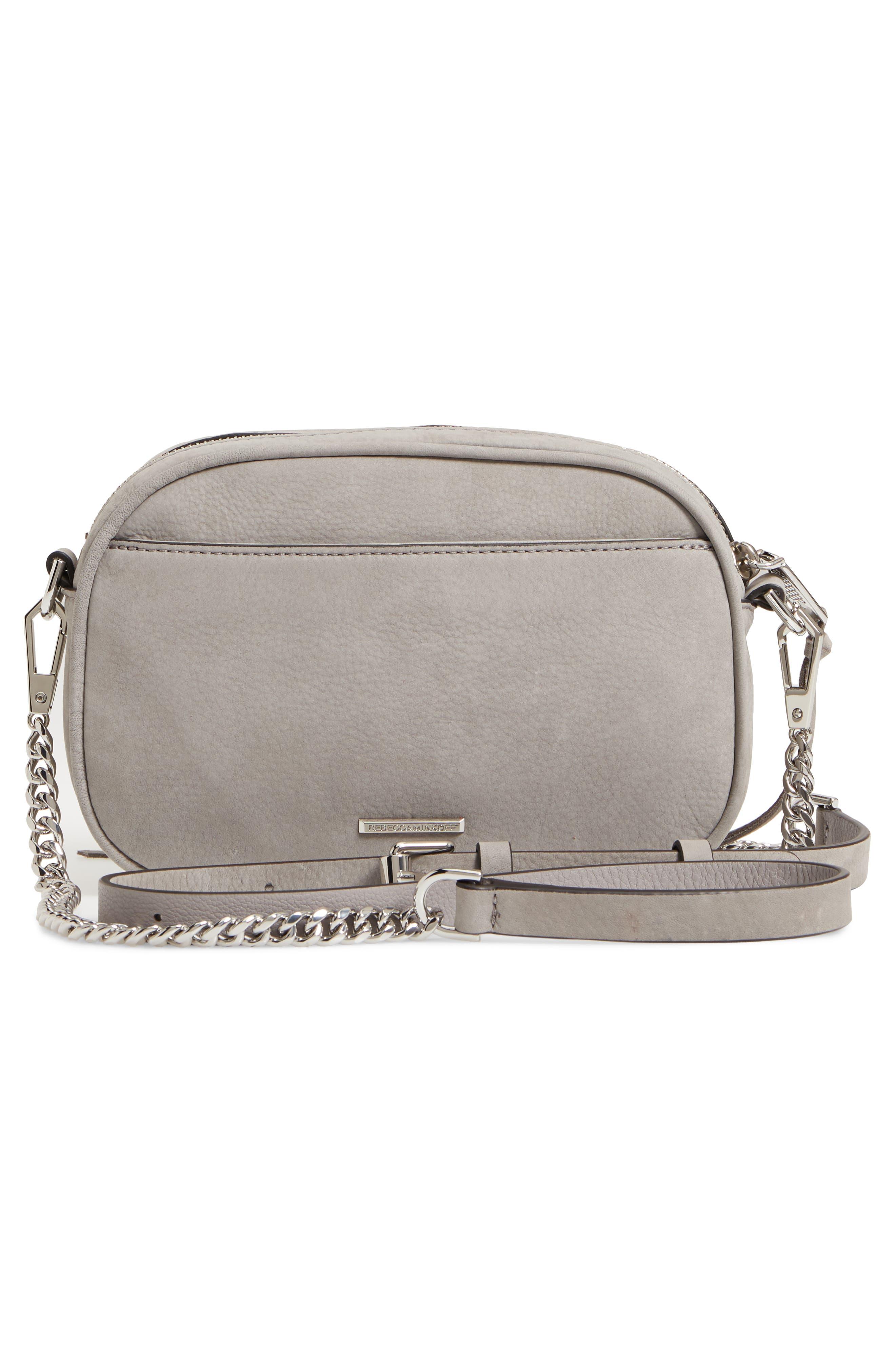 REBECCA MINKOFF,                             Blythe Leather Crossbody Bag,                             Alternate thumbnail 3, color,                             020