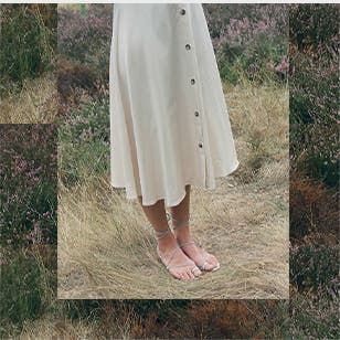 Perfectly simple: Emme Parsons's minimalist sandals.