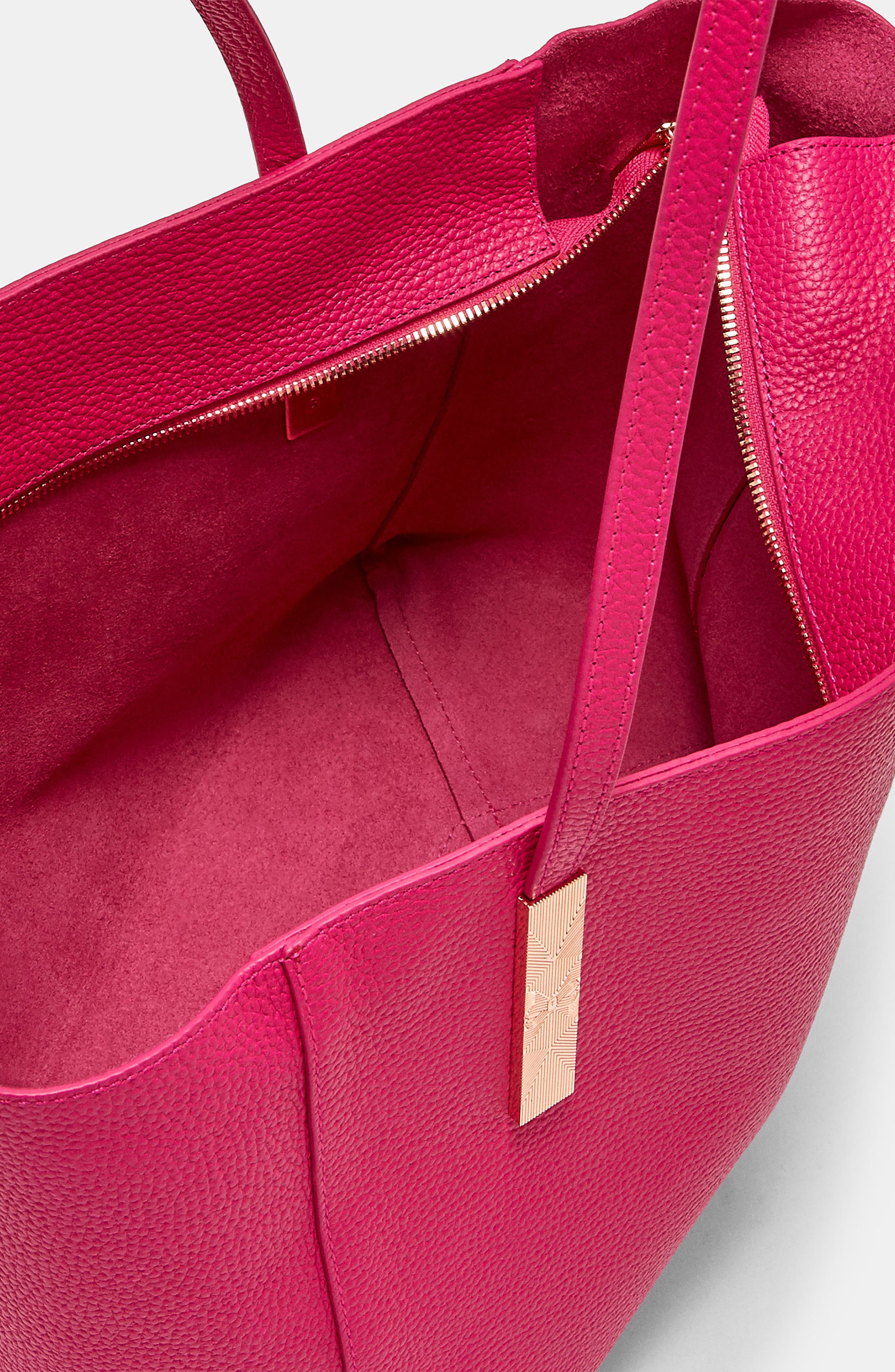 Pebbled Leather Tote,                             Alternate thumbnail 6, color,