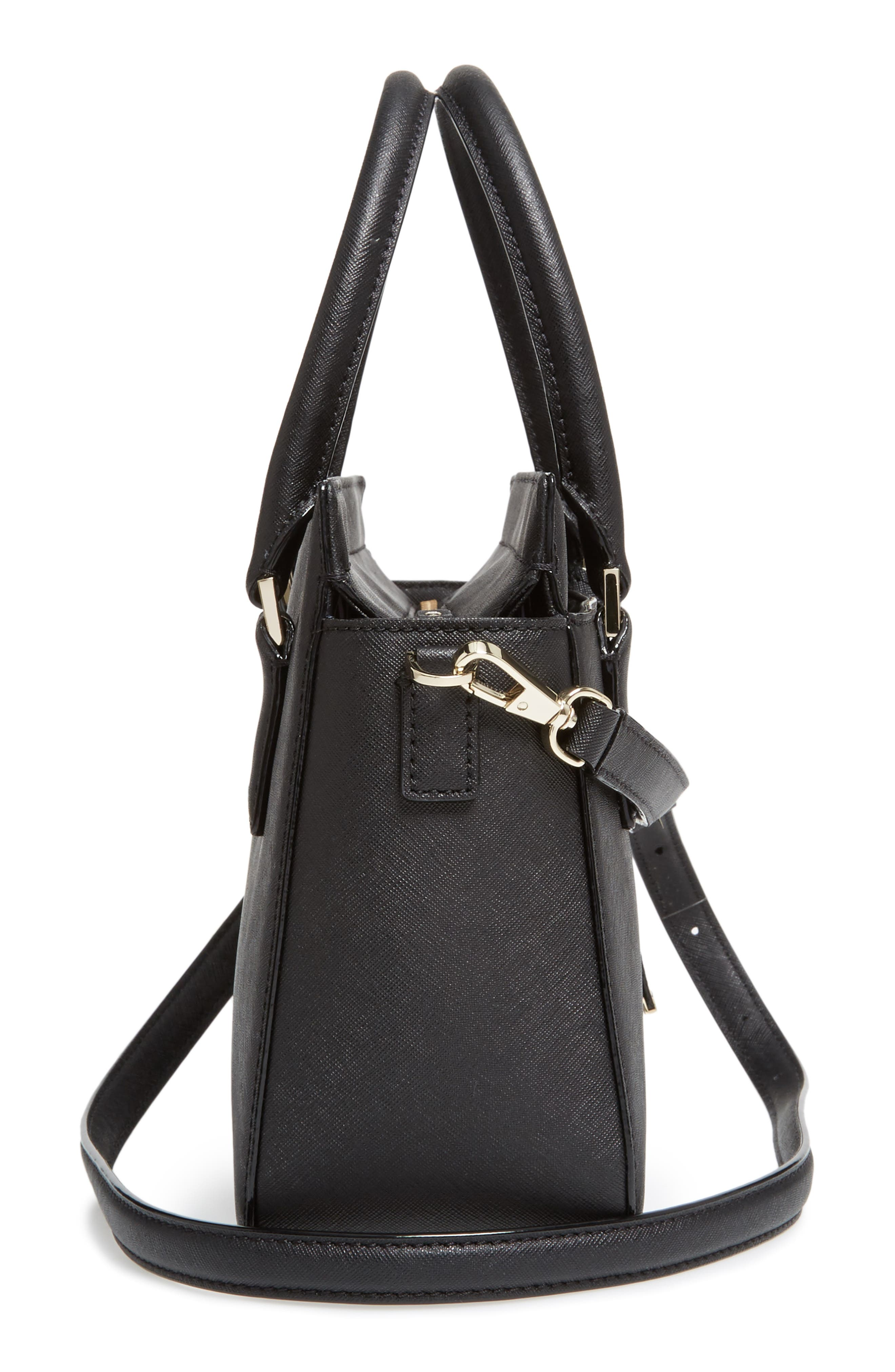 cameron street - small sally leather satchel,                             Alternate thumbnail 5, color,                             001